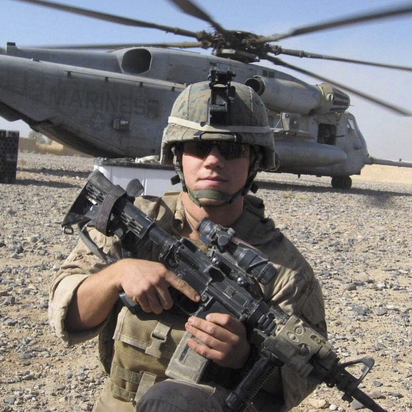 Kyle Carpenter in Afghanistan. Used with permission from HarperCollins.