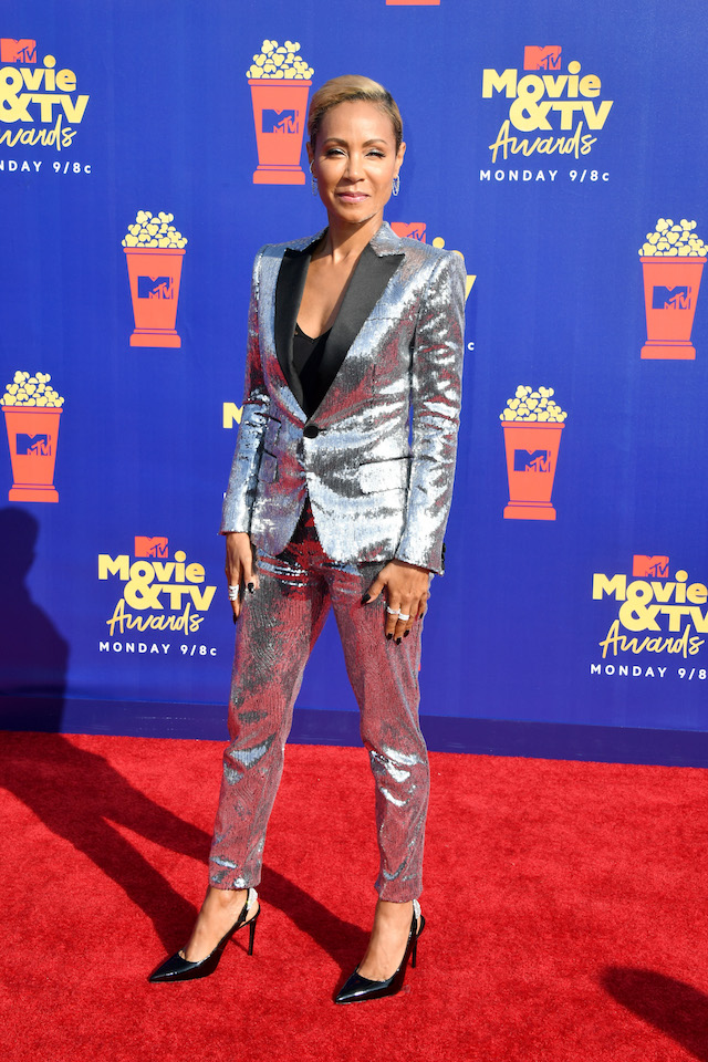 Jada Pinkett Smith attends the 2019 MTV Movie and TV Awards at Barker Hangar on June 15, 2019 in Santa Monica, California. (Photo by Jon Kopaloff/Getty Images)