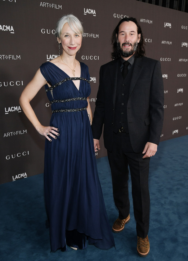 Alexandra Grant and Keanu Reeves attend the 2019 LACMA 2019 Art + Film Gala Presented By Gucci at LACMA on November 02, 2019 in Los Angeles, California. (Photo by Neilson Barnard/Getty Images for LACMA)
