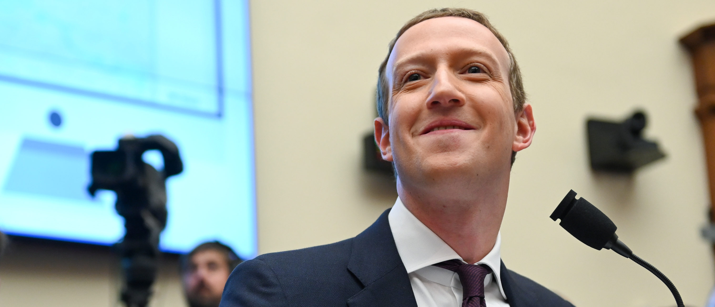Facebook Chairman and CEO Mark Zuckerberg testifies at a House Financial Services Committee hearing in Washington, U.S., Oct. 23, 2019. REUTERS/Erin Scott