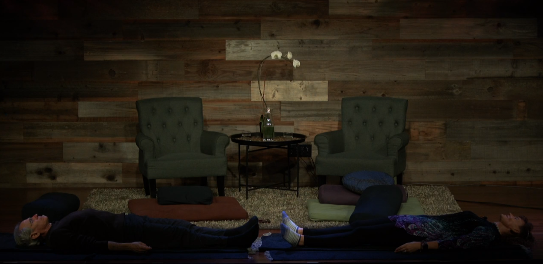 Michelle Reugebrink teaches meditation at a conference during a government shutdown / Screenshot https://vimeopro.com/user89997258/2019-usfs-summit/video/311447386