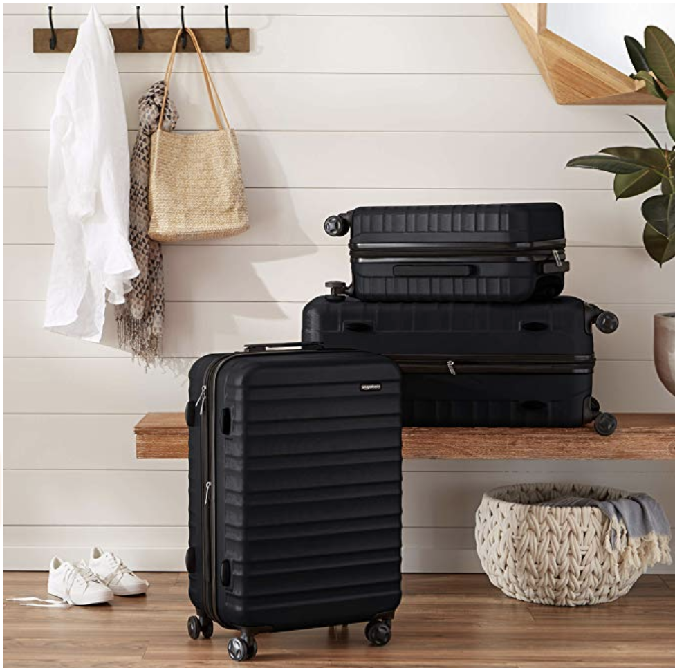 Amazon's choice -- quality-ensured spinner carry-on luggage only for $49.99! Photo via Amazon