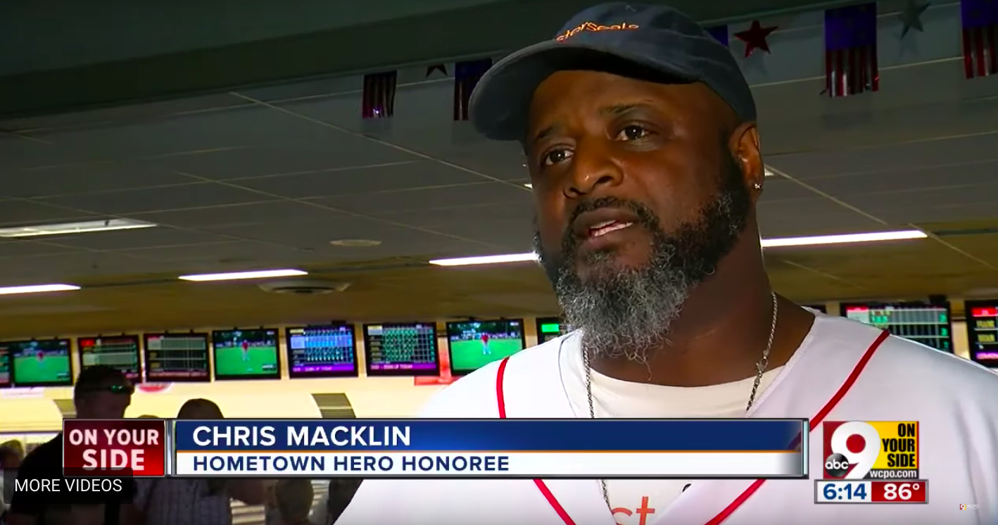 Chris Macklin at Bowling for the Brave/ WCPO.com/ YouTube