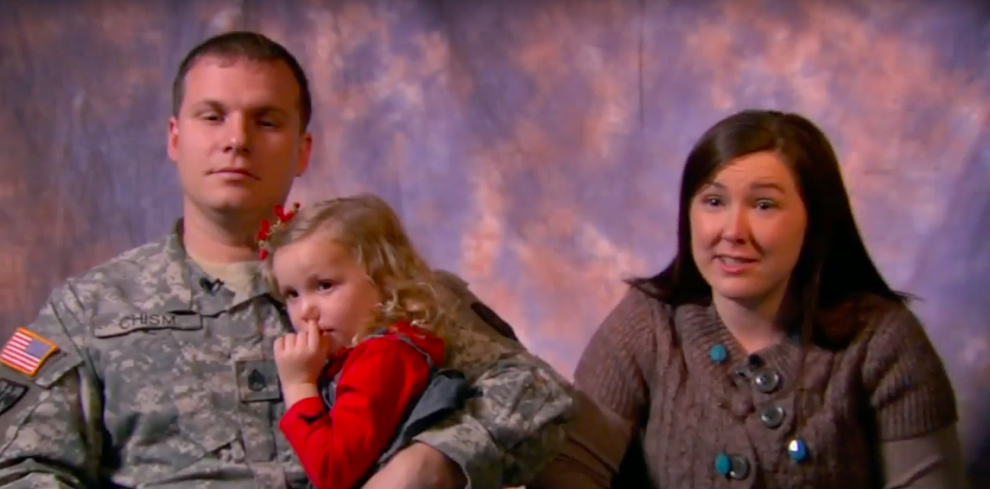 Family who received help from Easter Seals Military and Veterans Count Program/ YouTube/ Easterseals