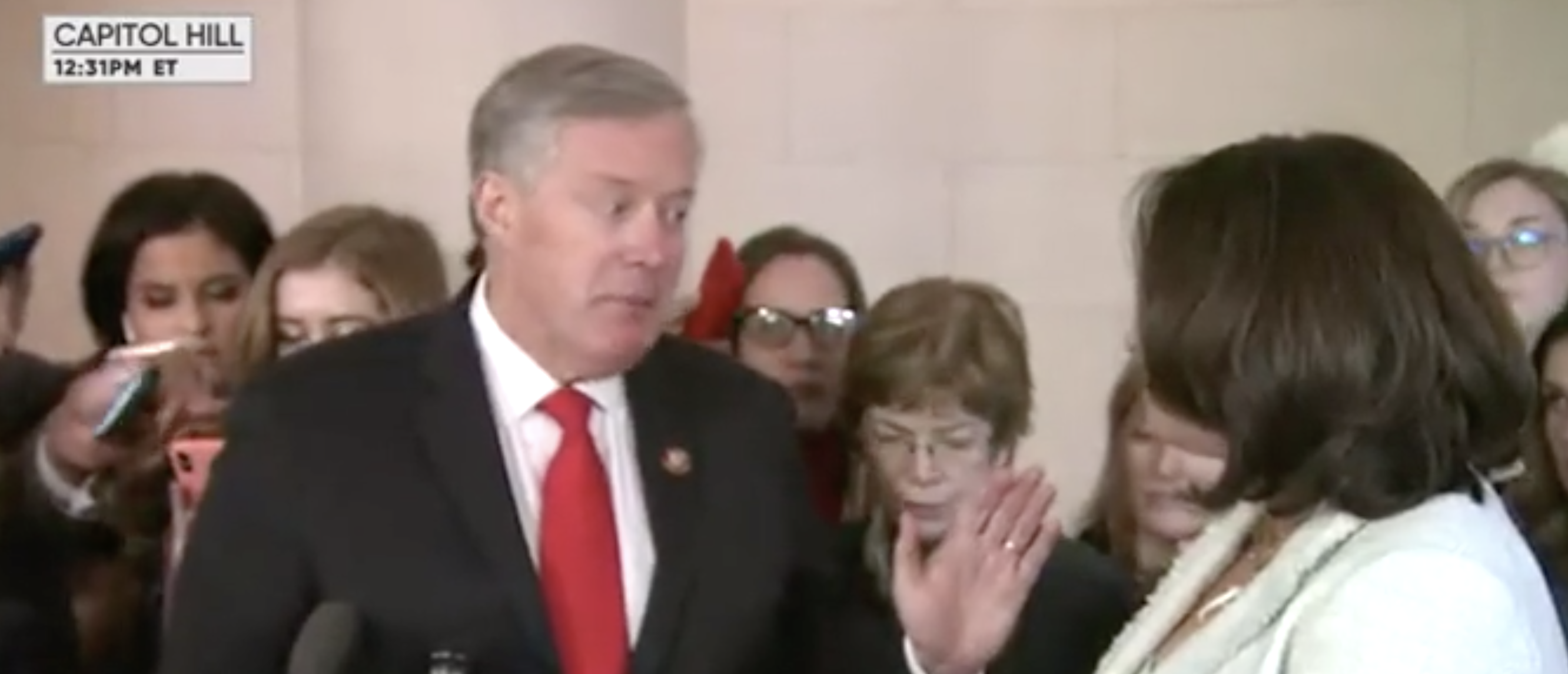 Rep Mark Meadows Rips Into CBS Reporter Who Says She's Read 'All' The Transcripts Of Impeachment Depositions