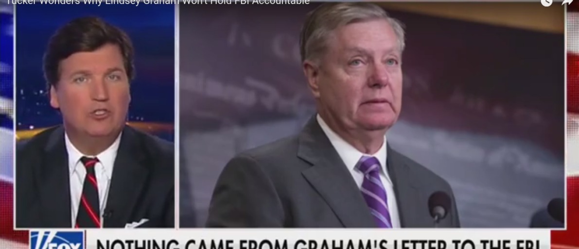 'Pretty Cynical': Tucker Wonders Why Lindsey Graham Won't Hold FBI Accountable