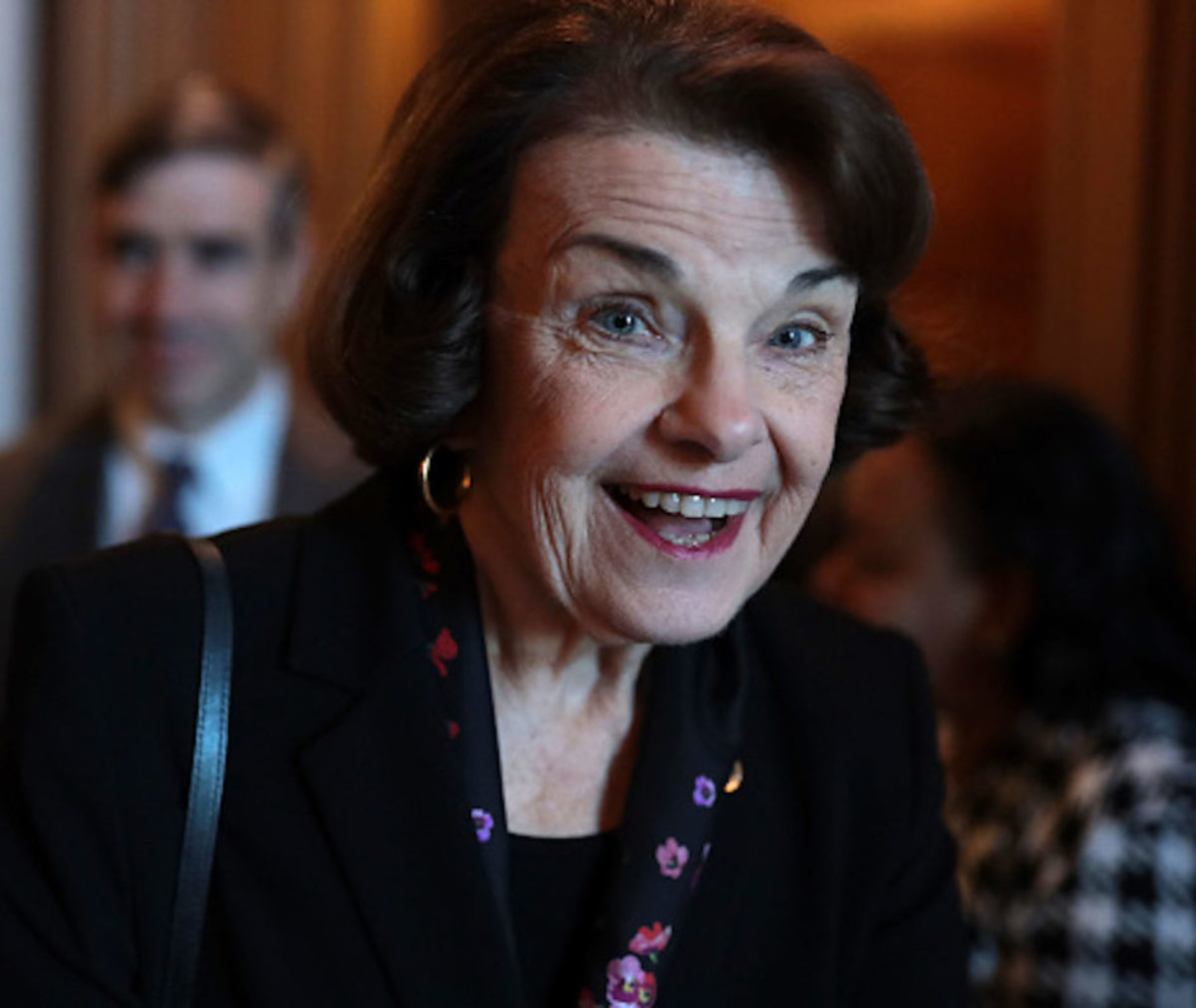 WASHINGTON, DC - FEBRUARY 05: U.S. Sen. Dianne Feinstein (D-CA) arrives at a weekly Senate Democratic Policy Luncheon at the U.S. Capitol February 5, 2019 in Washington, DC. Senate Democrats held the weekly policy lunch to discuss Democratic agenda. (Photo by Alex Wong/Getty Images)