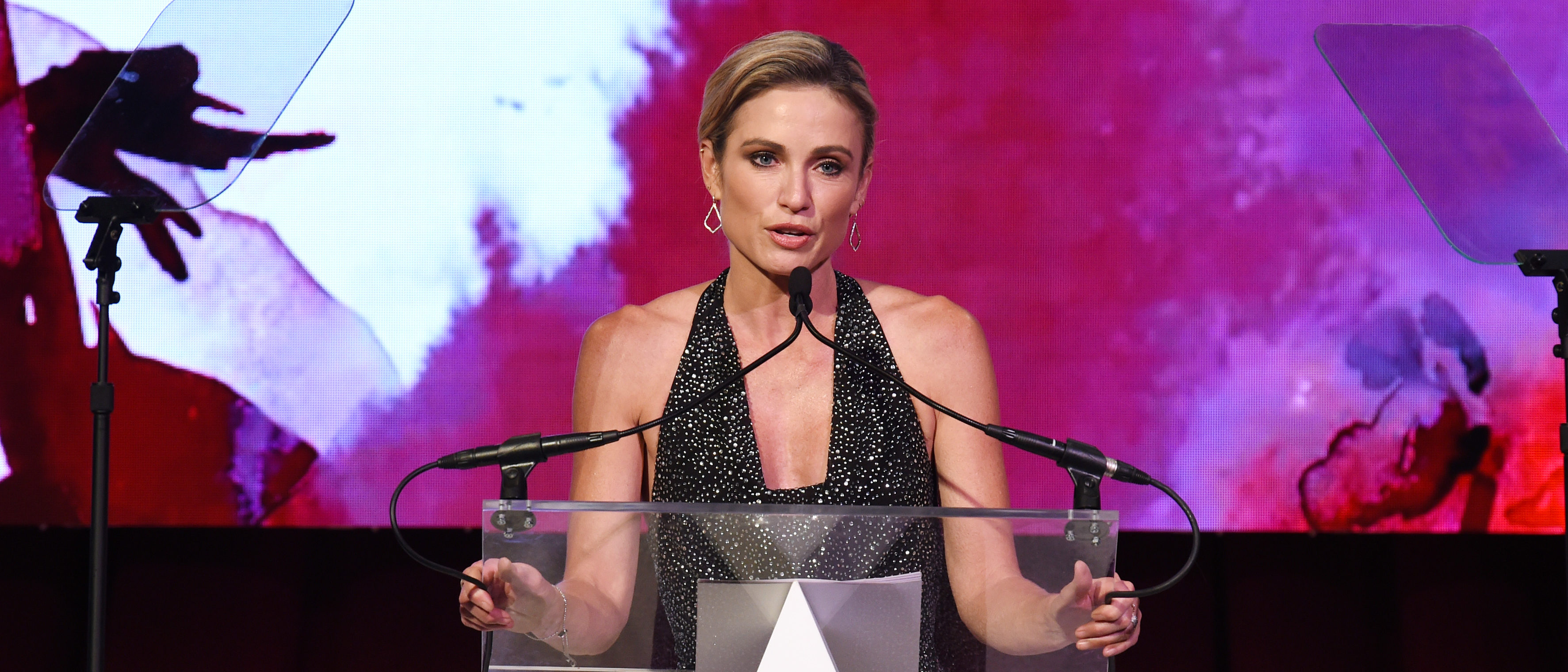 Amy Robach speaks onstage as the Accessories Council Hosts The 23rd Annual ACE Awards on June 10, 2019 in New York City. (Dimitrios Kambouris/Getty Images for Accessories Council)