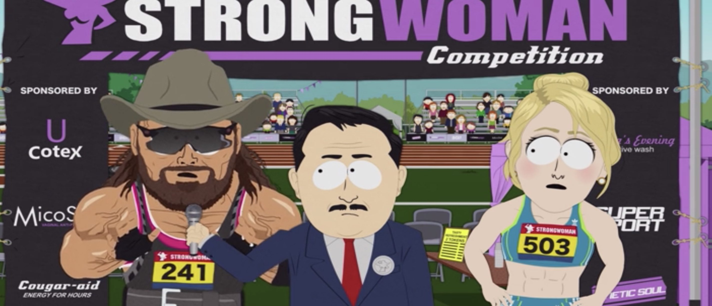 South Park Jumps Into Transgender Athlete Debate As 'Randy Savage' Character Dominates 'Strong Woman' Contest