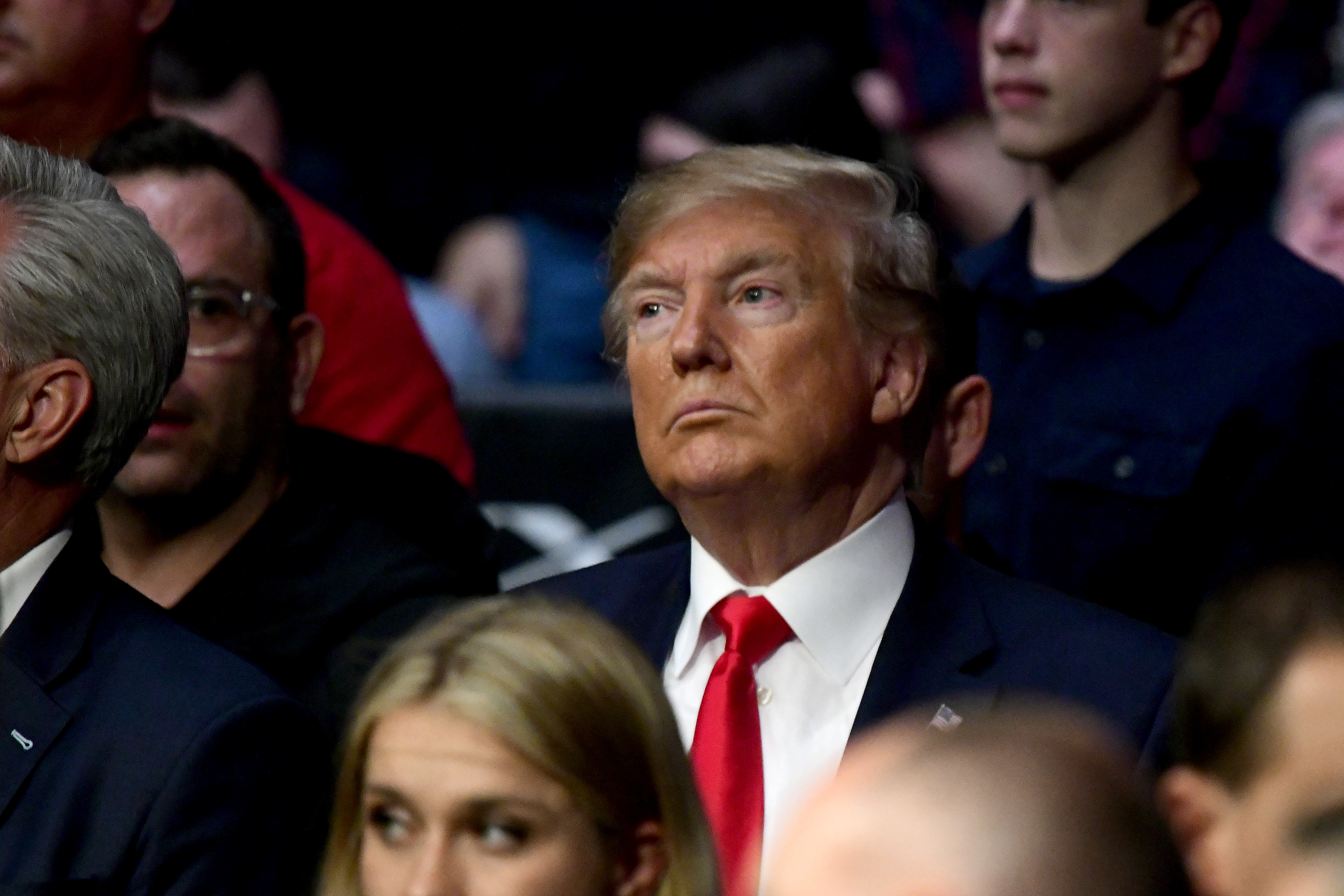U.S. President Donald Trump attends UFC 244 at Madison Square Garden on November 02, 2019 in New York City. (Photo by Steven Ryan/Getty Images)