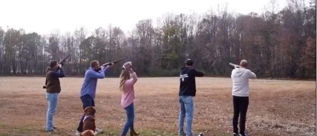 NFL Quarterback Does Gender Reveal With Shotguns. Is This The Only Cool One We've Ever Seen?