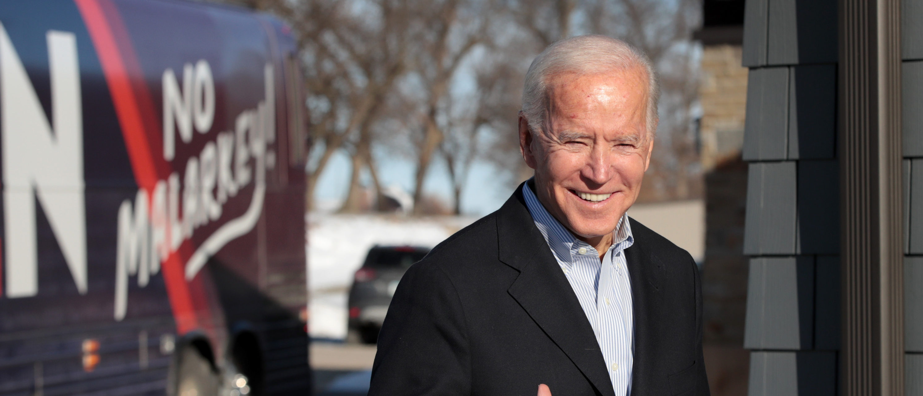 Democratic presidential candidate, former Vice President Joe Biden arrives at a campaign stop on Dec. 2, 2019 in Emmetsburg, Iowa. (Scott Olson/Getty Images)