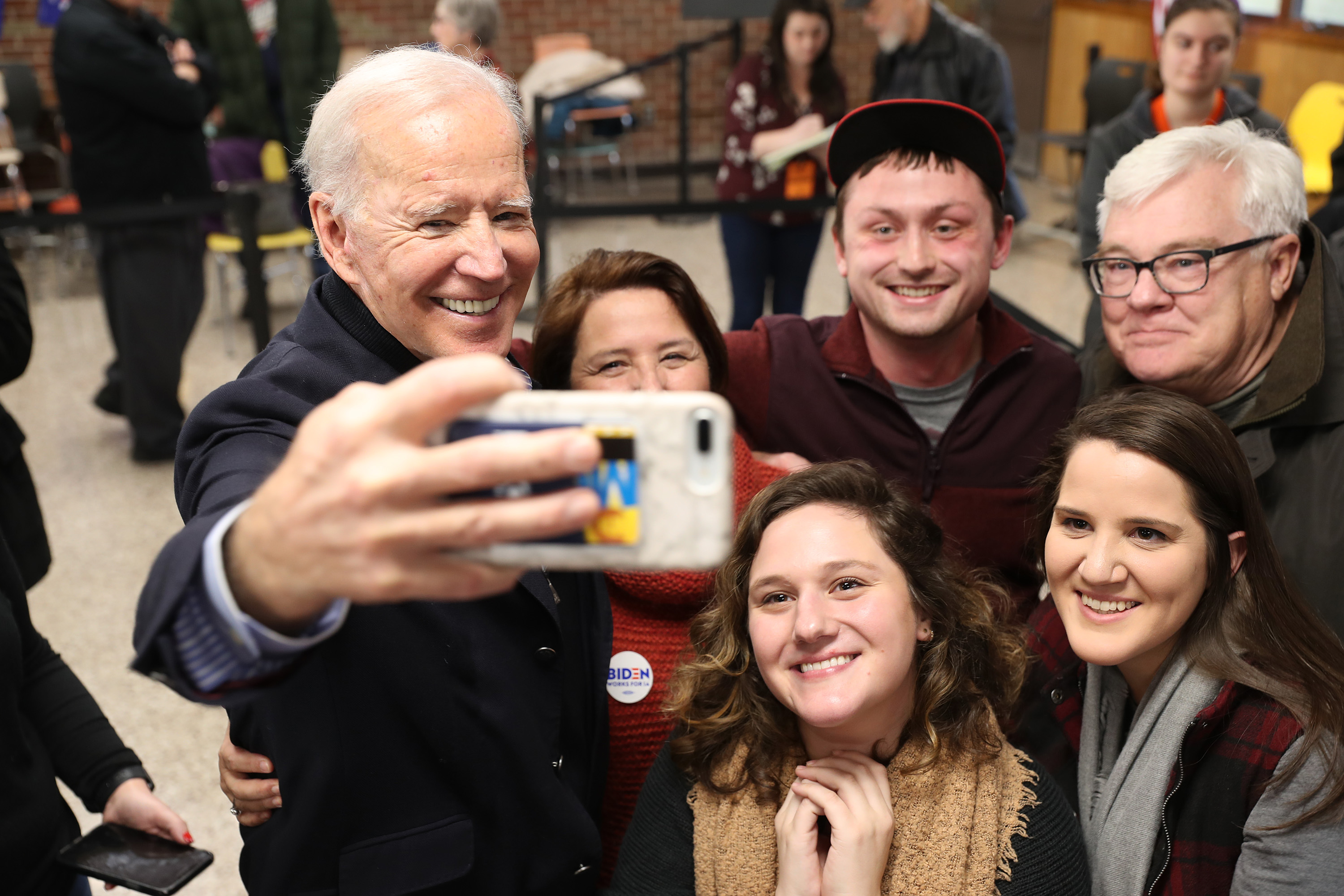 Democratic presidential candidate, former Vice President Joe Biden greets people during a campaign stop at Tipton High School on December 28, 2019 in Tipton, Iowa. (Joe Raedle/Getty Images)
