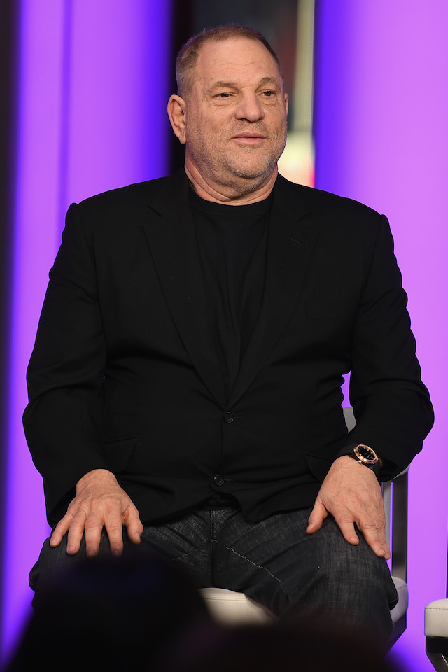 Harvey Weinstein speaks onstage during TIME AND PUNISHMENT: A Town Hall Discussion with JAY Z and Harvey Weinstein on Spike TV at MTV Studios on March 8, 2017 in New York City. (Photo by Dave Kotinsky/Getty Images for Spike)