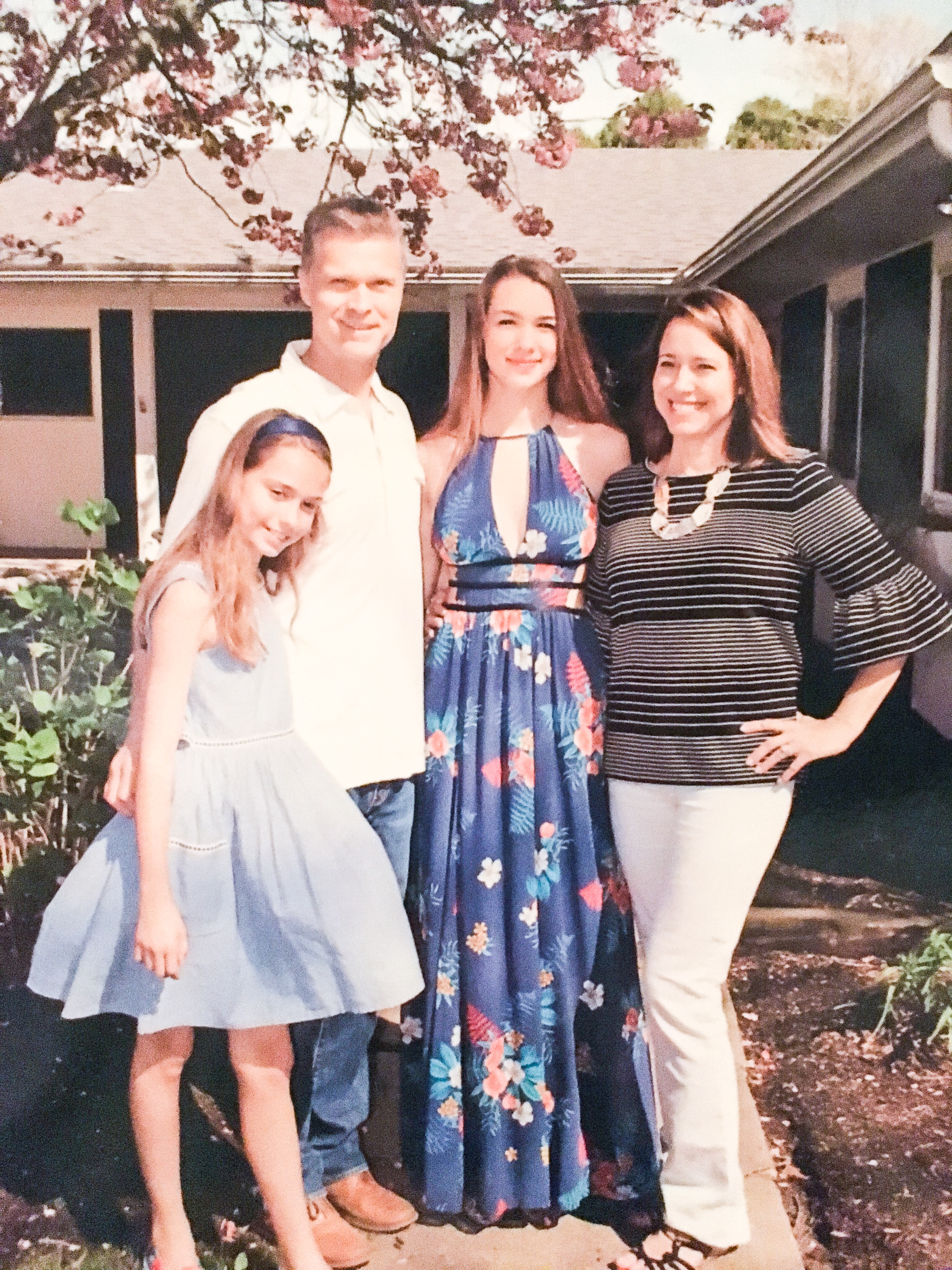 JoAnne Mantz's family: Elizabeth, Captain (retired) Peter Mantz, Malia and JoAnne. Photo courtesy of JoAnne Mantz.