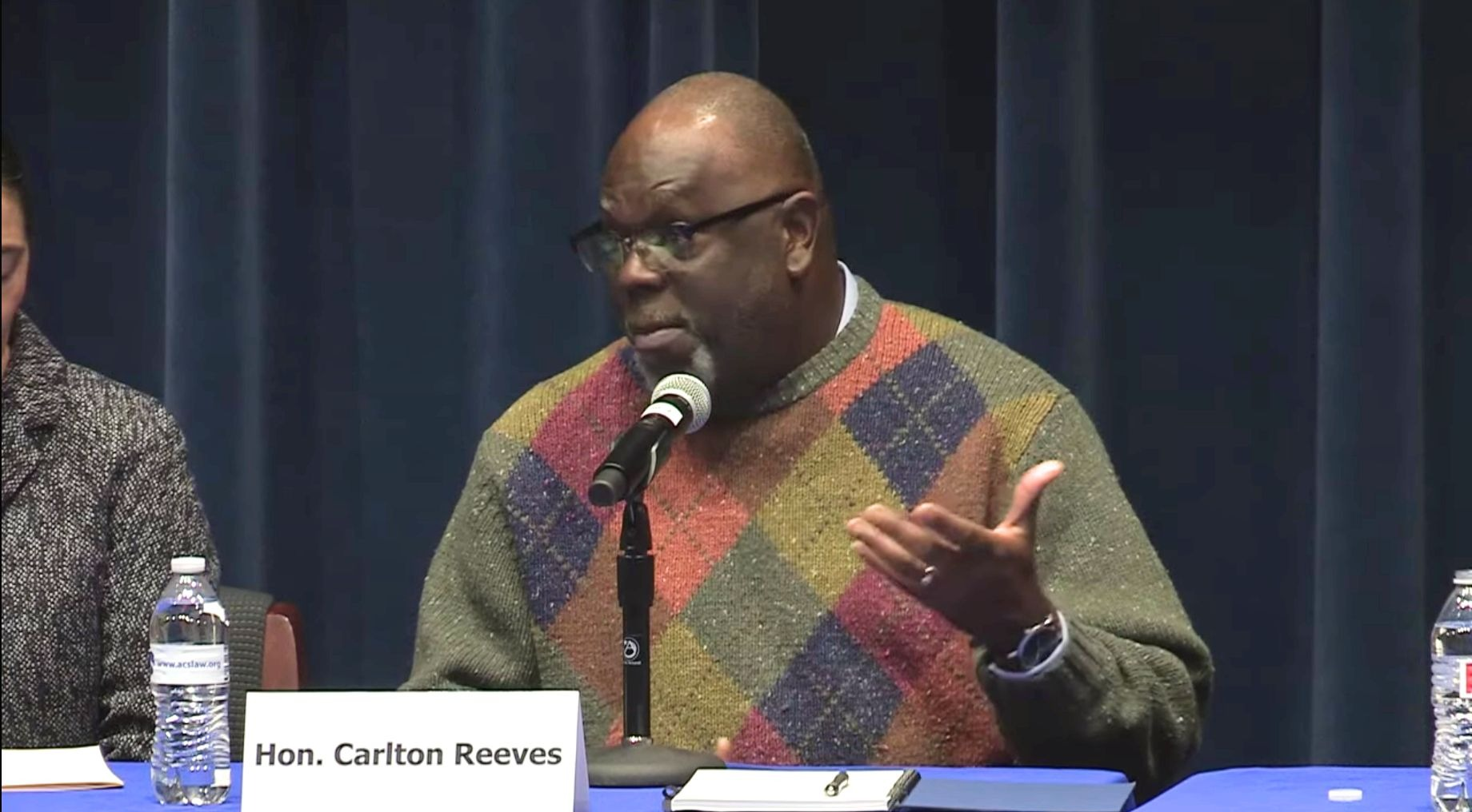 Judge Carlton Reeves speaks to an American Constitution Society conference at the University of Virginia on Feb. 23, 2019. (YouTube screenshot/University of Virginia School of Law)