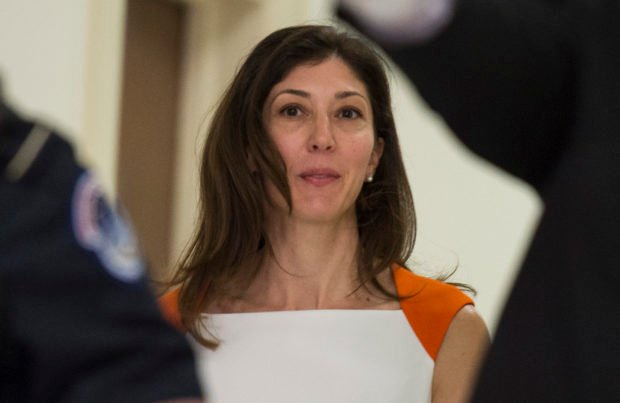 Lisa Page, former legal counsel to former FBI Director Andrew Mc Cabe, arrives on Capitol Hill July 16, 2018 arrives to speak before the House Judiciary and Oversight Committee on Capitol Hill in Washington, DC. - Republicans accuse the pair, Lisa Page and FBI agent Peter Strzok, of deep anti-Trump bias as they helped conduct investigations of both Hillary Clinton and the candidate who would eventually become the US president. (ANDREW CABALLERO-REYNOLDS / AFP via Getty Images)