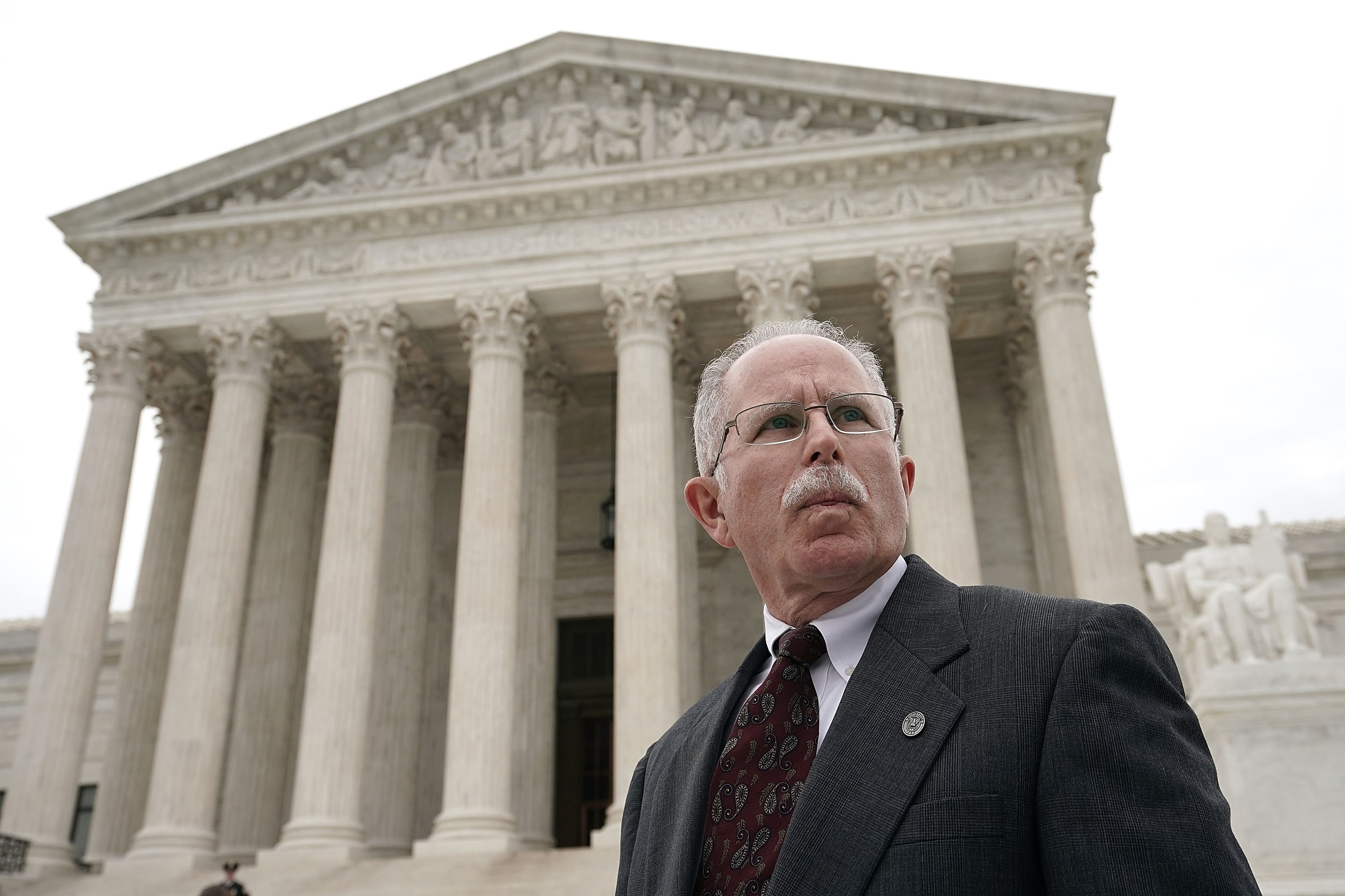 Mark Janus in front of the Supreme Court on February 26, 2018. (Alex Wong/Getty Images)