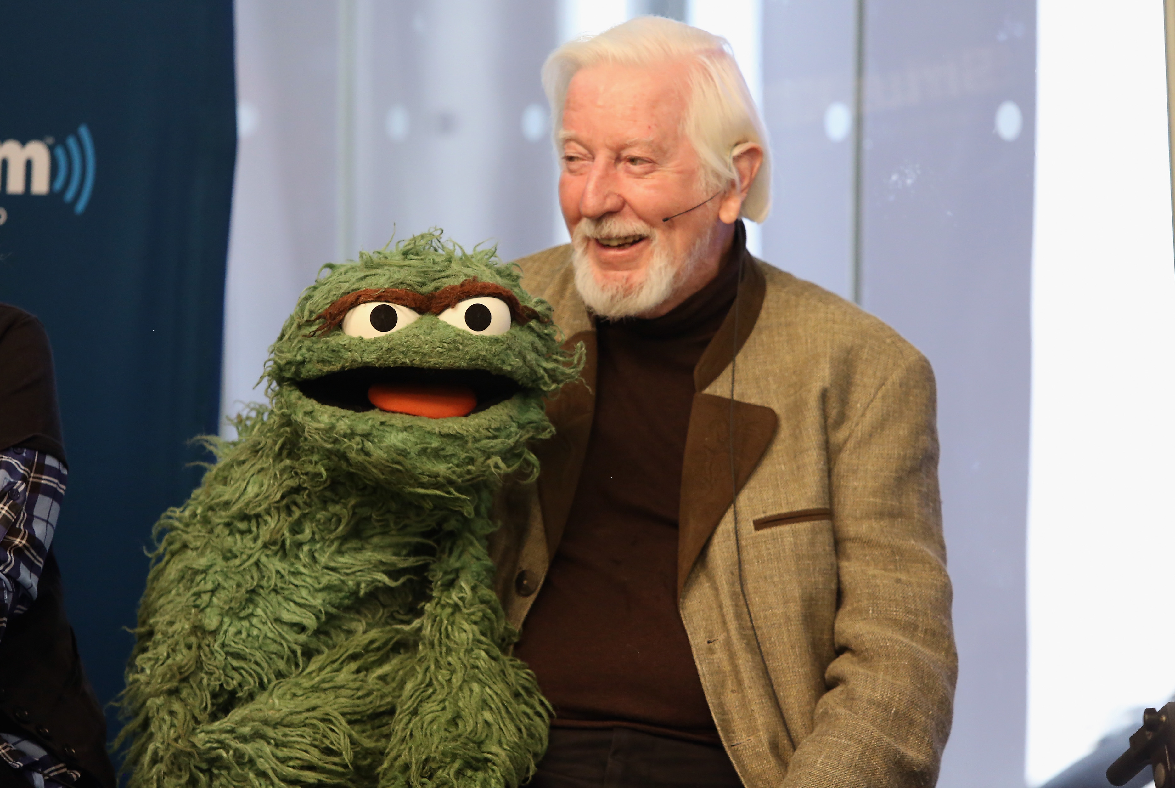 """Caroll Spinney """"Oscar and Big Bird"""" attends SiriusXM's Town Hall with original cast members from Sesame Street commemorating the 45th anniversary of the celebrated series debut on public television moderated by Weekend TODAY co-anchor Erica Hill on October 9, 2014 in New York City. (Photo by Robin Marchant/Getty Images for SiriusXM)"""