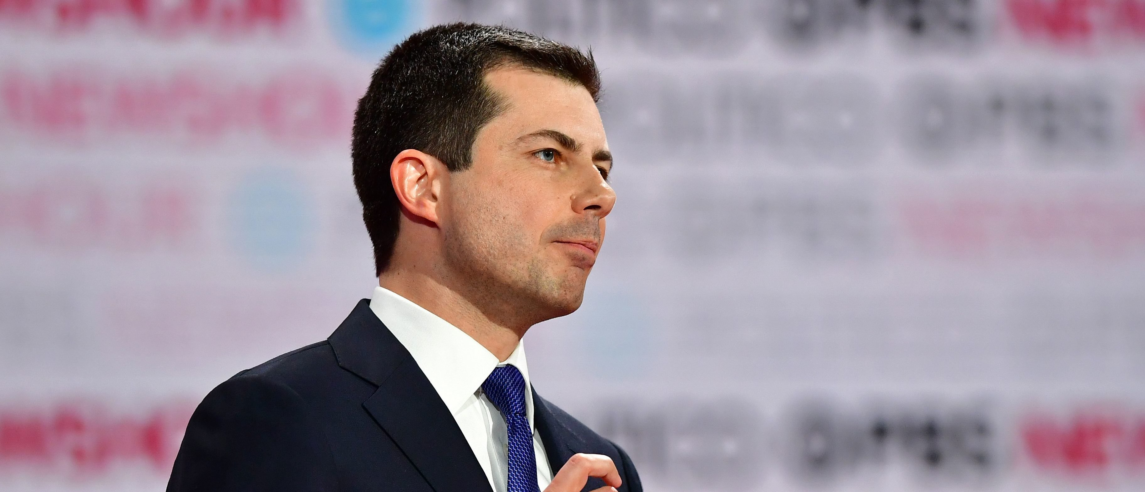 Democratic presidential hopeful Mayor of South Bend, Indiana, Pete Buttigieg speaks during the sixth Democratic primary debate of the 2020 presidential campaign season co-hosted by PBS NewsHour & Politico at Loyola Marymount University in Los Angeles, California on Dec. 19, 2019. (Photo by Frederic J. Brown / AFP) (Photo by FREDERIC J. BROWN/AFP via Getty Images)