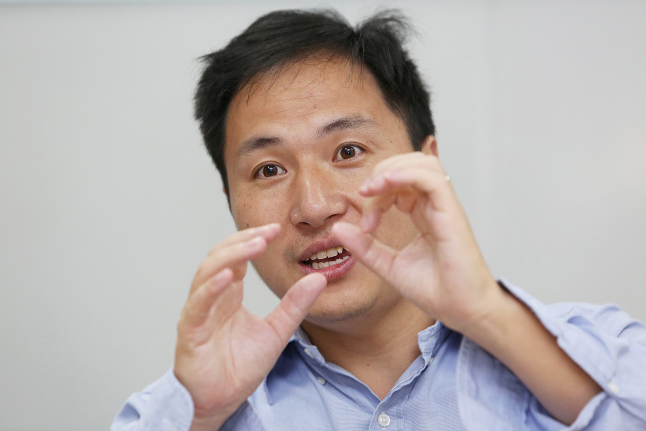 """He Jiankui usually goes by the nickname JK and is often called """"China's Frankenstein."""" (Reuters/China Stringer Network)"""