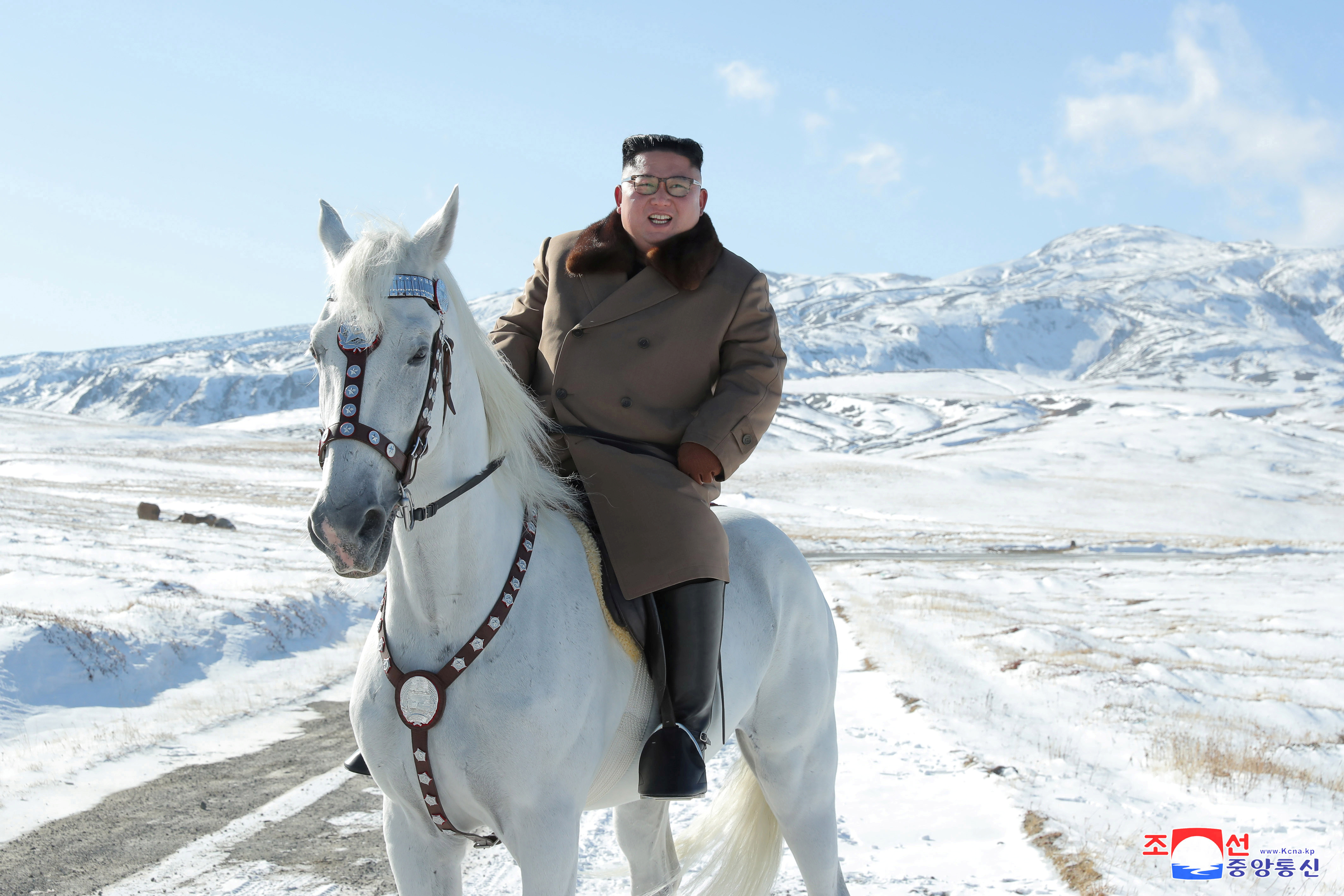 Kim Jong Un was recently pictured riding a horse in a series of propoganda photos released by North Korea. (Reuters/KCNA KCNA)