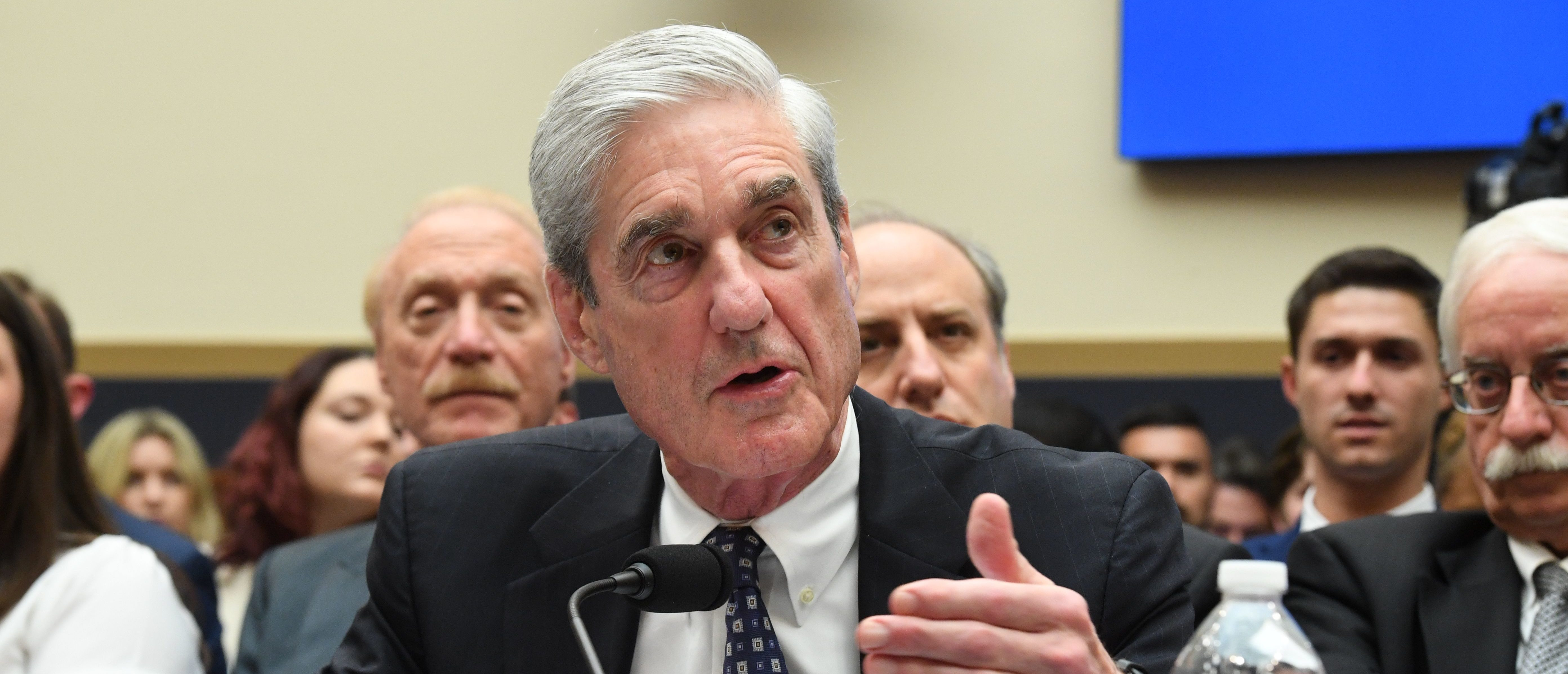 Former Special Counsel Robert Mueller testifies before the House Select Committee on Intelligence hearing on July 24, 2019. (Jim Watson/AFP/Getty Images)