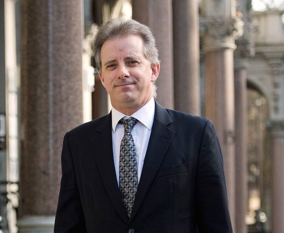 Christopher Steele in London (VICTORIA JONES/GETTY IMAGES)