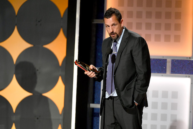 Adam Sandler accepts Best Actor for 'Uncut Gems' onstage during AARP The Magazine's 19th Annual Movies For Grownups Awards at Beverly Wilshire, A Four Seasons Hotel on January 11, 2020 in Beverly Hills, California. (Photo by Kevin Winter/Getty Images)
