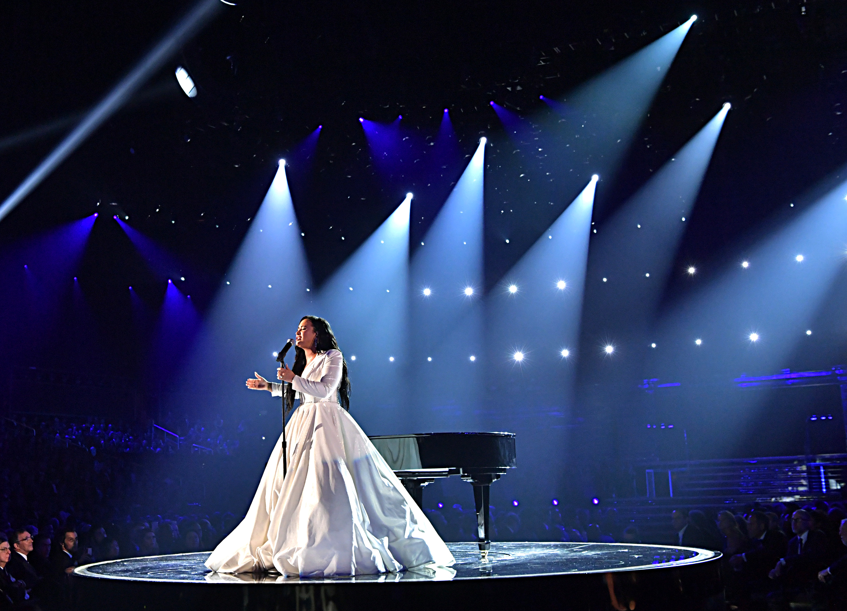 Demi Lovato performs onstage during the 62nd Annual GRAMMY Awards at STAPLES Center on January 26, 2020 in Los Angeles, California. (Photo by Emma McIntyre/Getty Images for The Recording Academy)