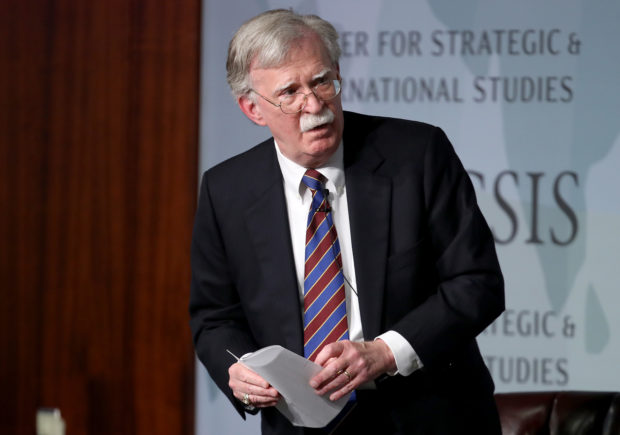 """WASHINGTON, DC - SEPTEMBER 30: Former U.S. National Security Advisor John Bolton appears at the Center for Strategic and International Studies before delivering remarks September 30, 2019 in Washington, DC. Bolton spoke on the topic of , """"Navigating Geostrategic Flux in Asia: The United States and Korea."""" (Photo by Win McNamee/Getty Images)"""