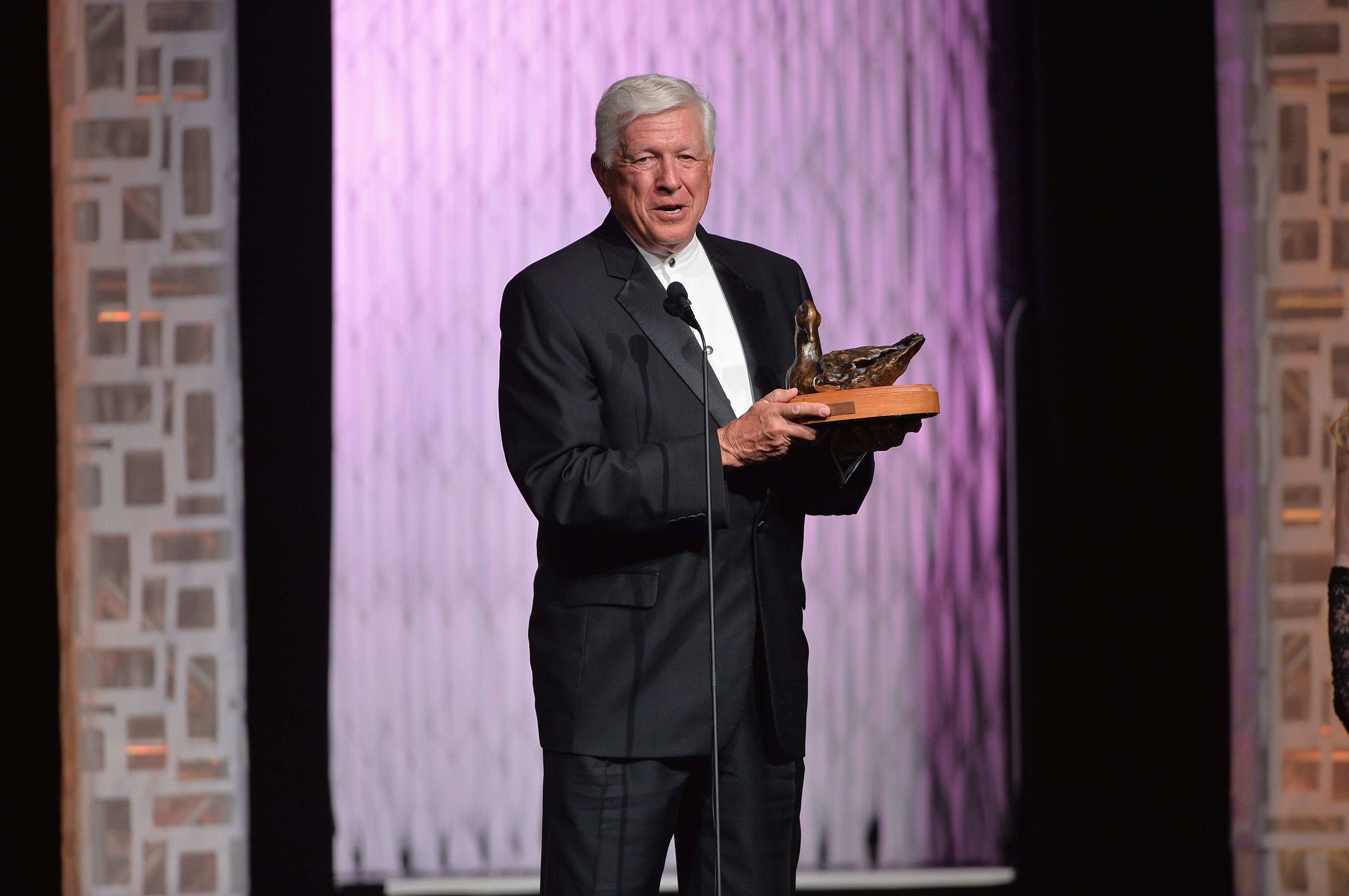 Philanthropist Foster Friess speaks on stage at the 22nd Annual Movieguide Awards Gala at the Universal Hilton Hotel on February 7, 2014 in Universal City, California. (Alberto E. Rodriguez/Getty Images)