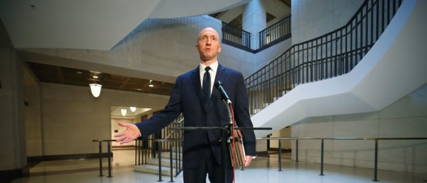 WASHINGTON, DC - NOVEMBER 02: Carter Page, former foreign policy adviser for the Trump campaign, speaks to the media after testifying before the House Intelligence Committee on November 2, 2017 in Washington, DC. The committee is conducting an investigation into Russia's tampering in the 2016 election. (Photo by Mark Wilson/Getty Images)