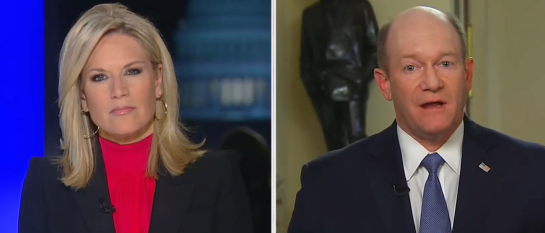 'Can I Talk Now?': Things Get Tense When Martha MacCallum Presses Sen. Chris Coons On Ambassador Firing