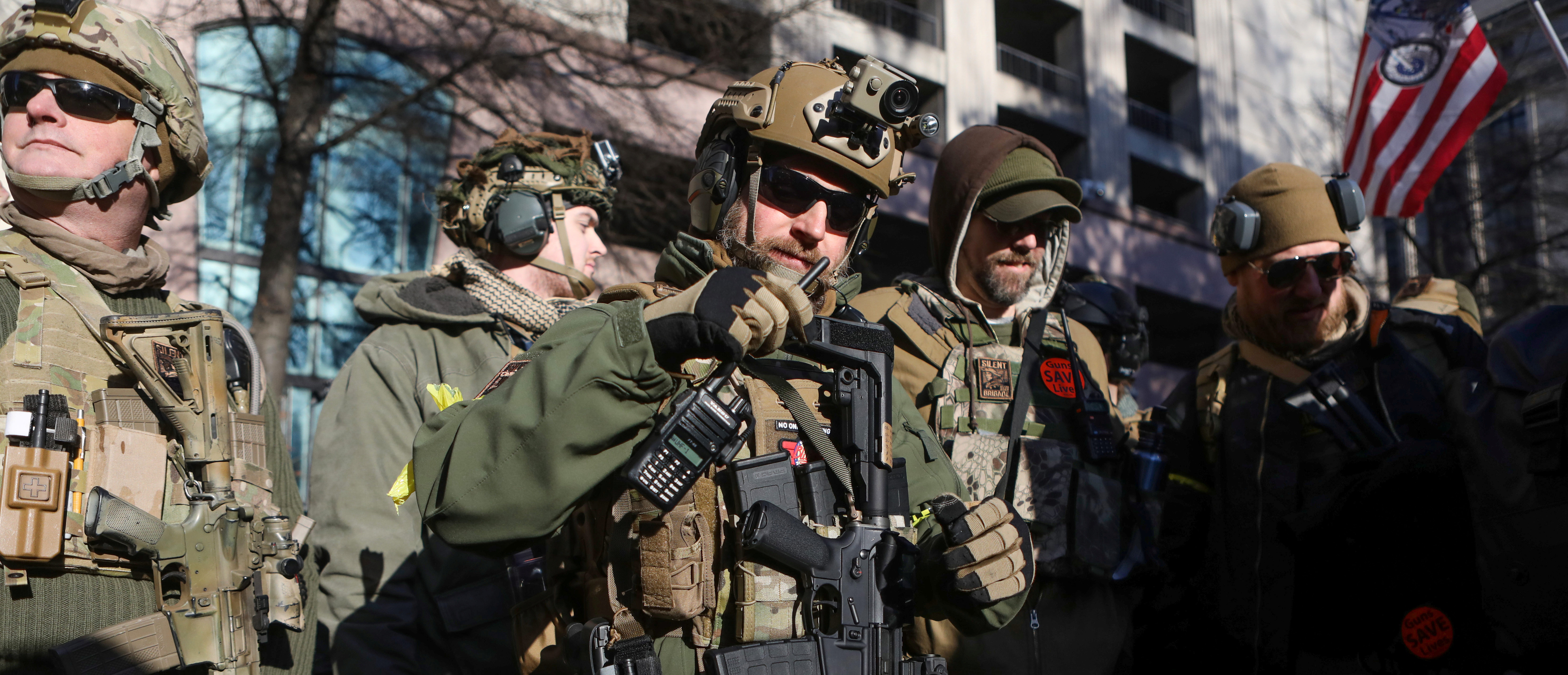 Gun rights advocates and militia members attend rally in Richmond, Virginia, U.S. January 20, 2020. (REUTERS/Jim Urquhart)
