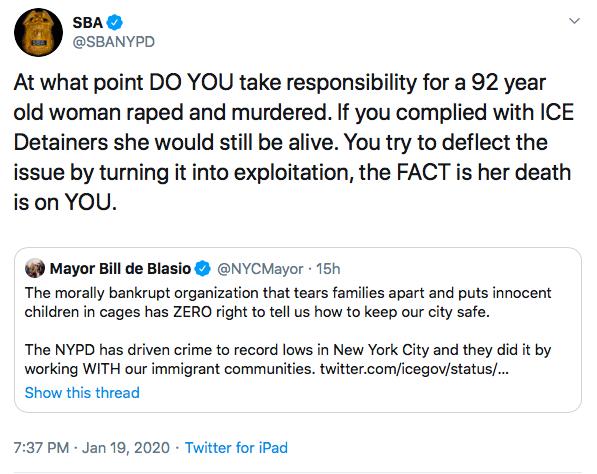 SBA Tweet. 1.19.2020