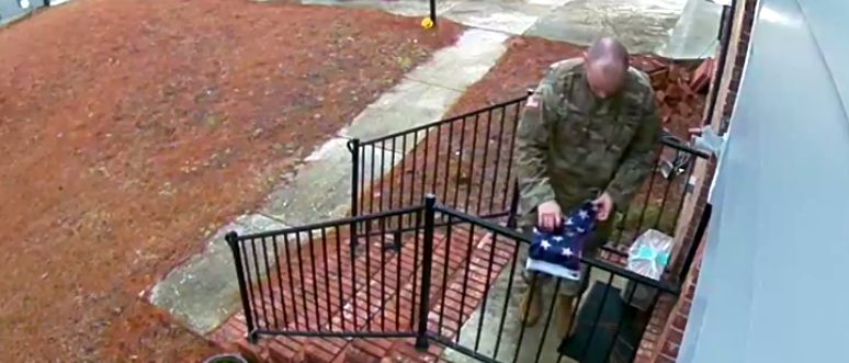 This Military Member Saw An American Flag On The Ground. Here's What He Did Next