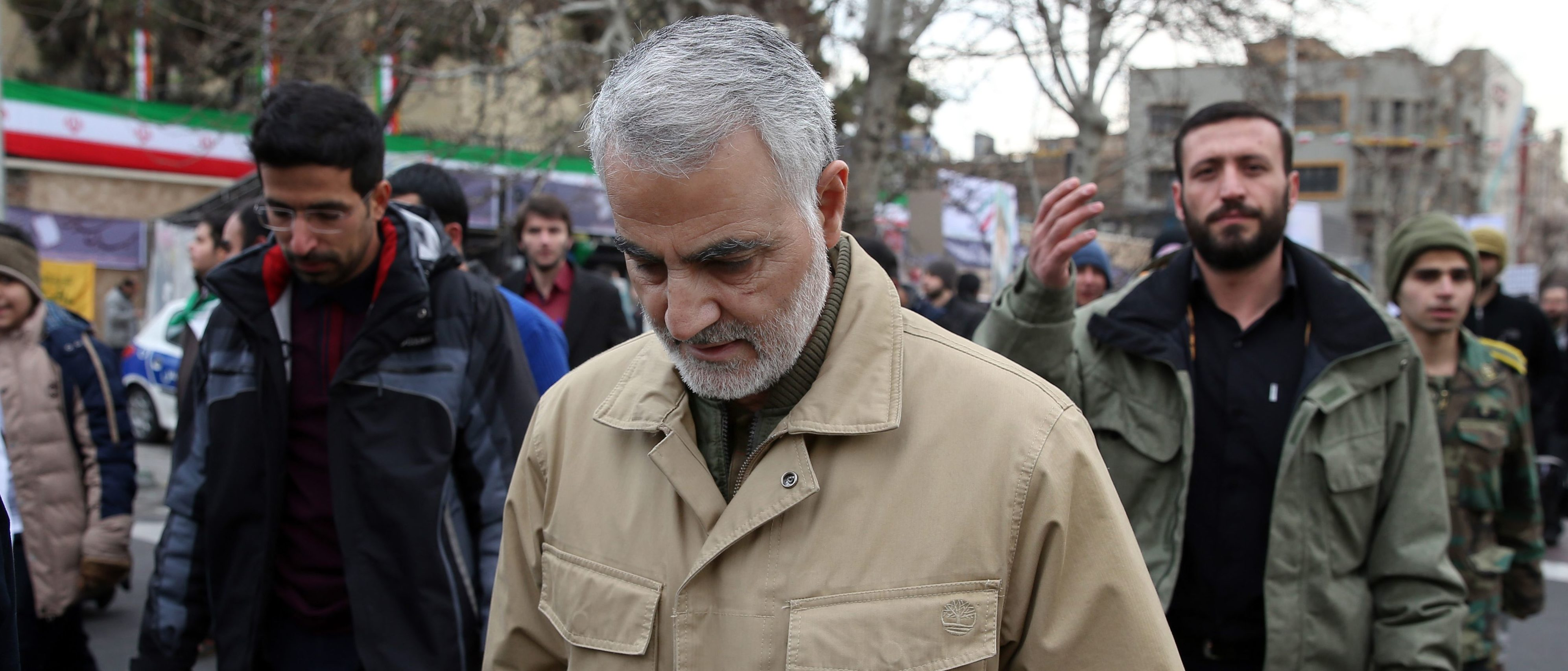 The commander of the Iranian Revolutionary Guard's Quds Force, General Qassem Soleimani, (STR/AFP via Getty Images)