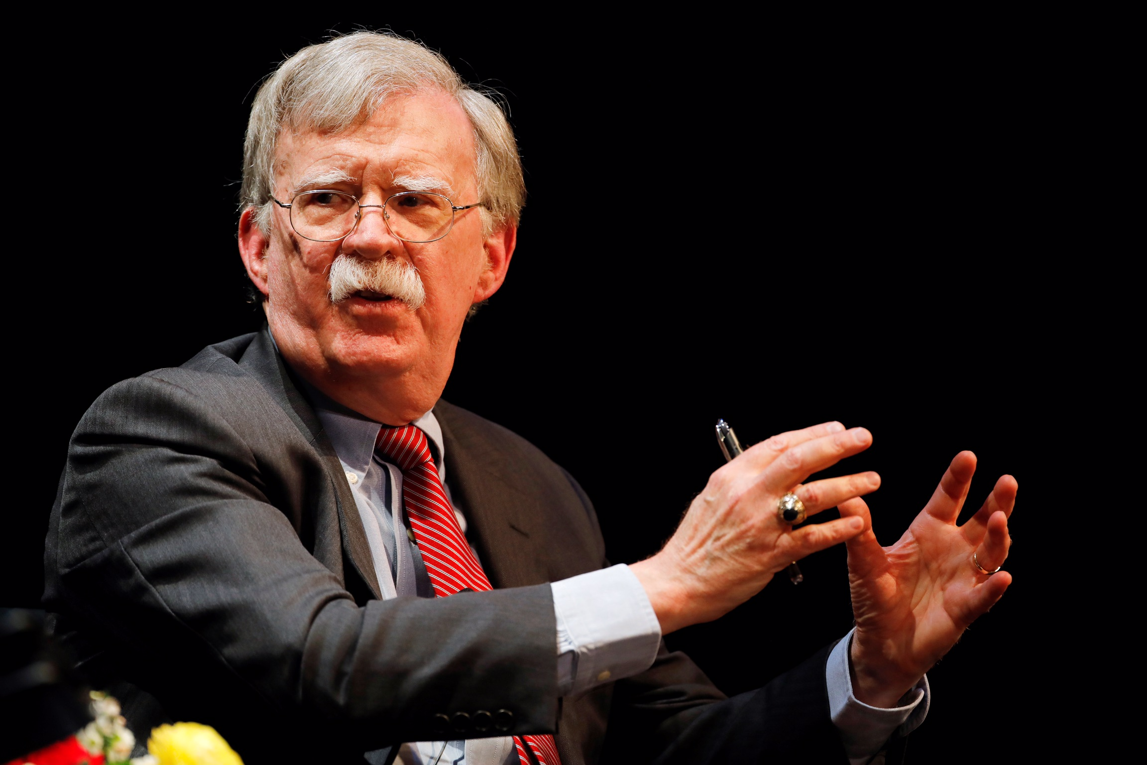 Former U.S. national security advisor John Bolton speaks during his lecture at Duke University in Durham, North Carolina, U.S. February 17, 2020. REUTERS/Jonathan Drake