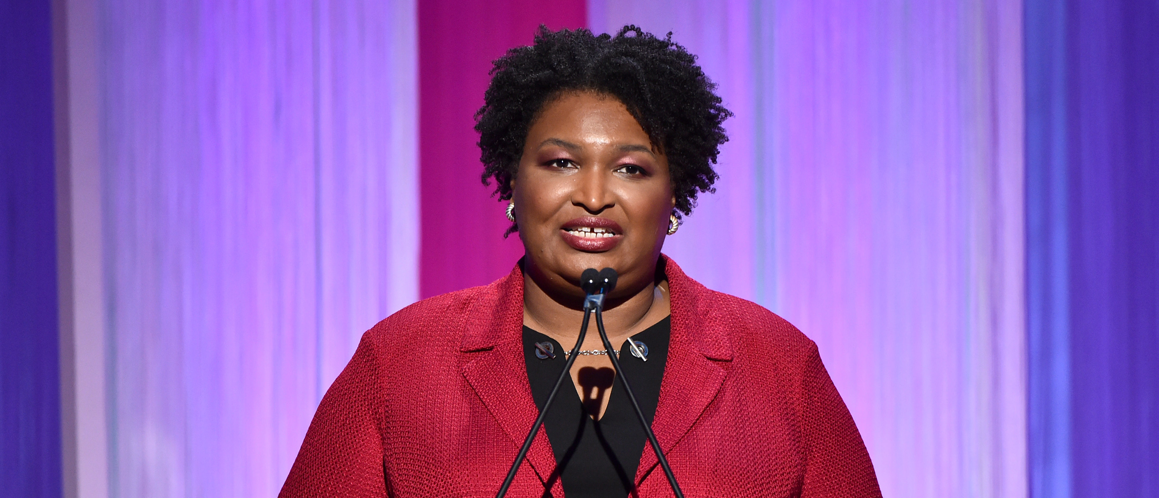 Stacey Abrams Defends Bloomberg`s Cash-Fueled Campaign
