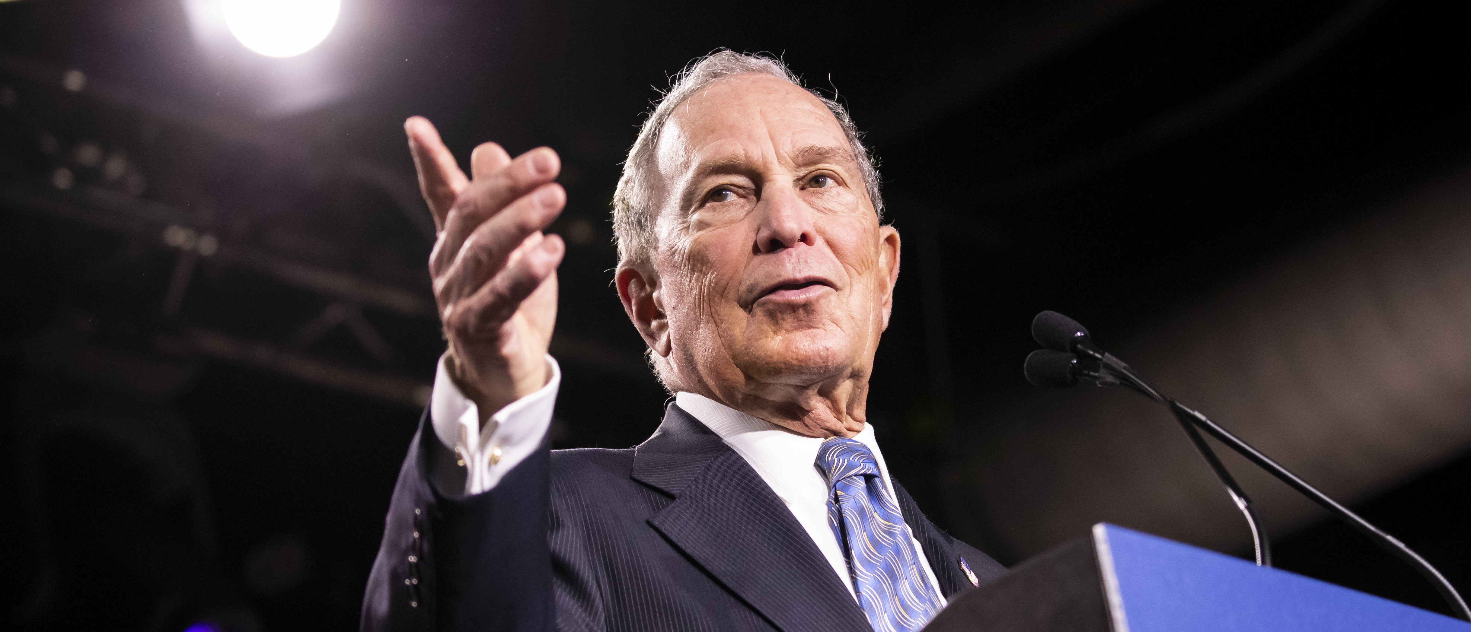 Democratic presidential candidate former New York City Mayor Mike Bloomberg delivers remarks during a campaign rally on Feb.12, 2020 in Nashville, Tennessee. (Photo by Brett Carlsen/Getty Images)