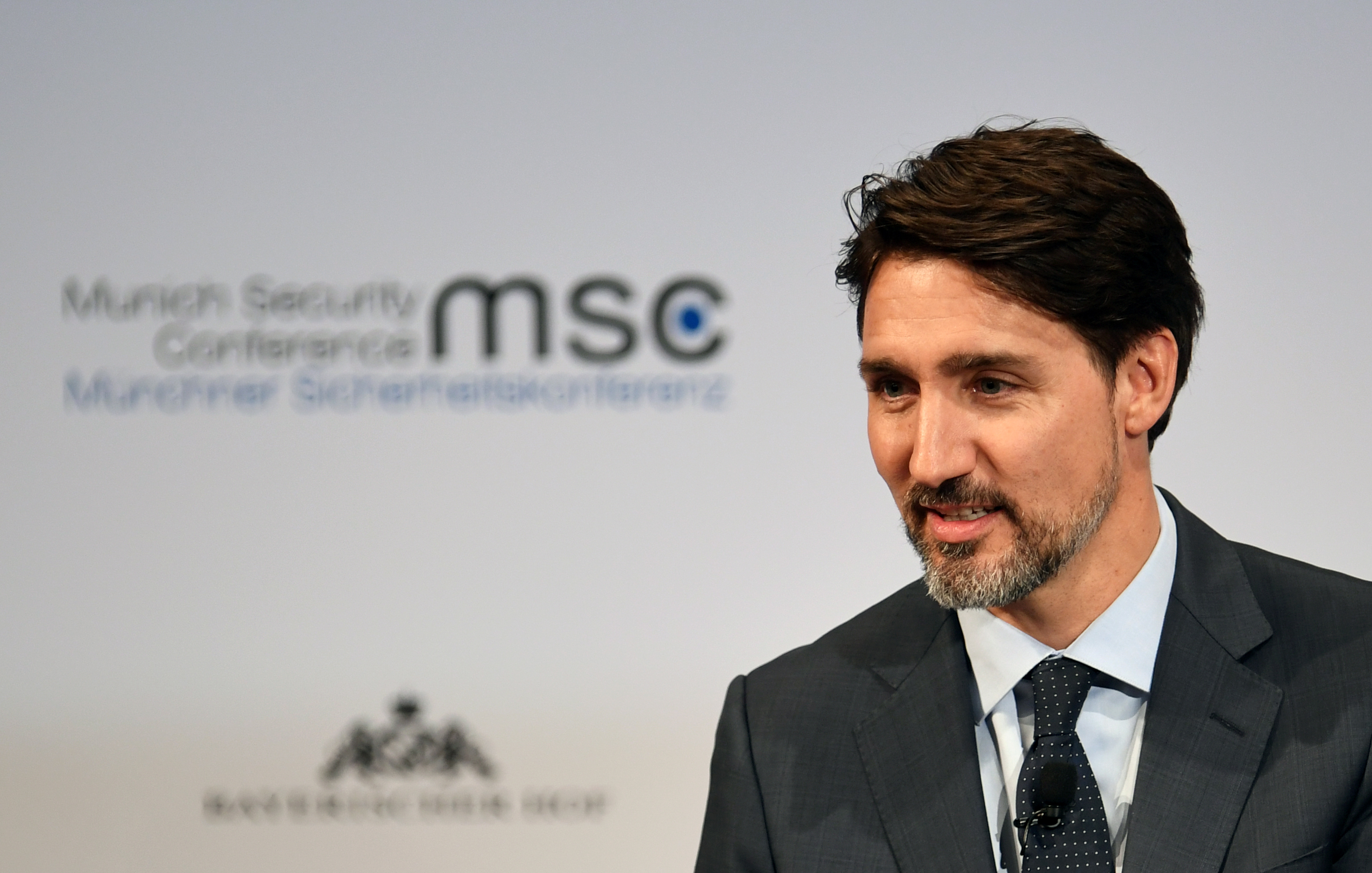 Canada's Prime Minister Justin Trudeau attends the annual Munich Security Conference in Munich, Germany Feb. 14, 2020. REUTERS/ Andreas Gebert