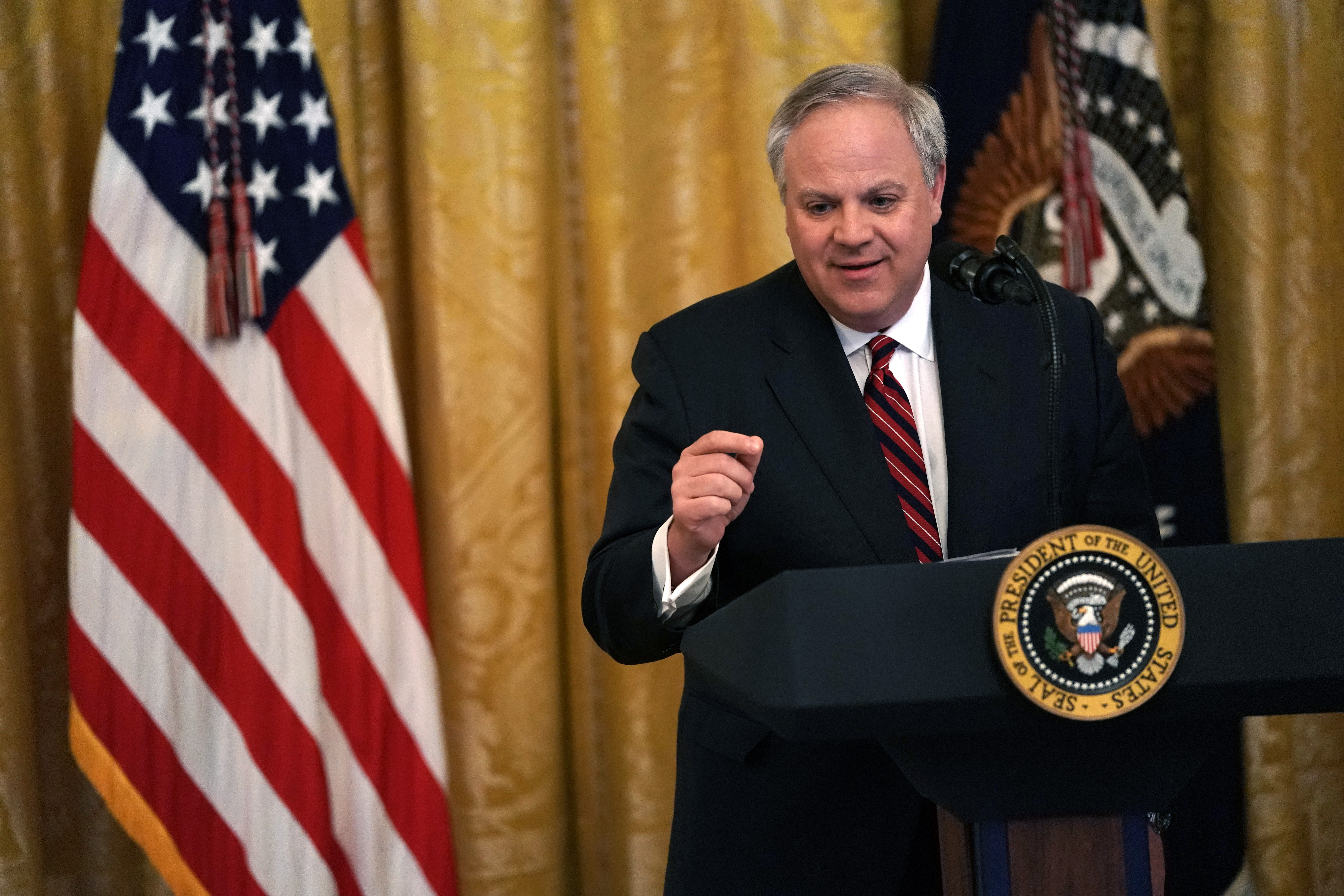 U.S. Secretary of Interior David Bernhardt speaks during an East Room event on the environment July 7, 2019 at the White House in Washington, DC. (Alex Wong/Getty Images)