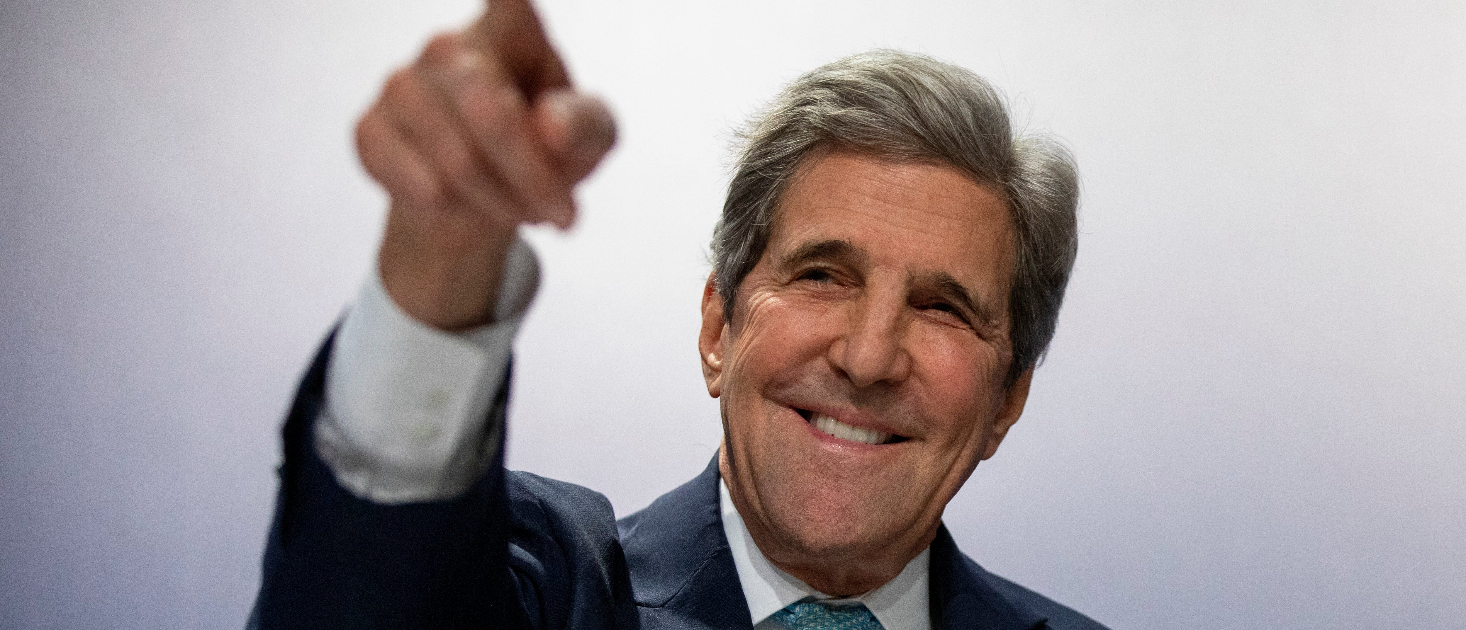 MADRID, SPAIN - DECEMBER 10: Former US Secretary of State John Kerry attends to a conference at the COP25 Climate Conference on December 10, 2019 in Madrid, Spain. The COP25 conference brings together world leaders, climate activists, NGOs, indigenous people and others for two weeks in an effort to focus global policy makers on concrete steps for heading off a further rise in global temperatures. (Photo by Pablo Blazquez Dominguez/Getty Images)