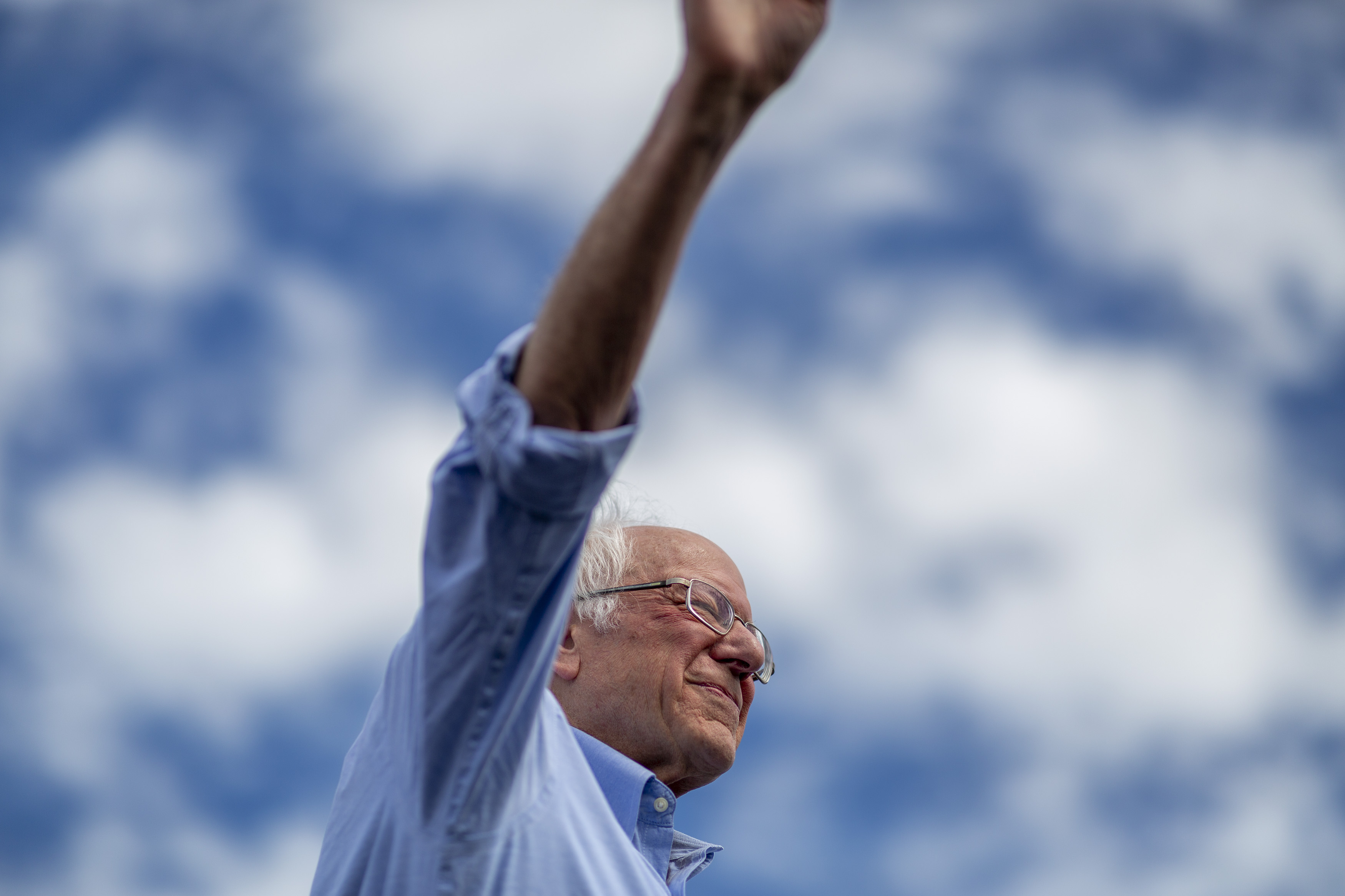 SANTA ANA, CA - FEBRUARY 21: Democratic presidential candidate Sen. Bernie Sanders (I-VT) holds a Get Out the Early Vote rally on February 21, 2020 in Santa Ana, California. Sanders is campaigning ahead of the 2020 California Democratic primary on March 3. California moved its Democratic primary from June to ahead of Super Tuesday to have much greater political influence as an early primary state. (Photo by David McNew/Getty Images)