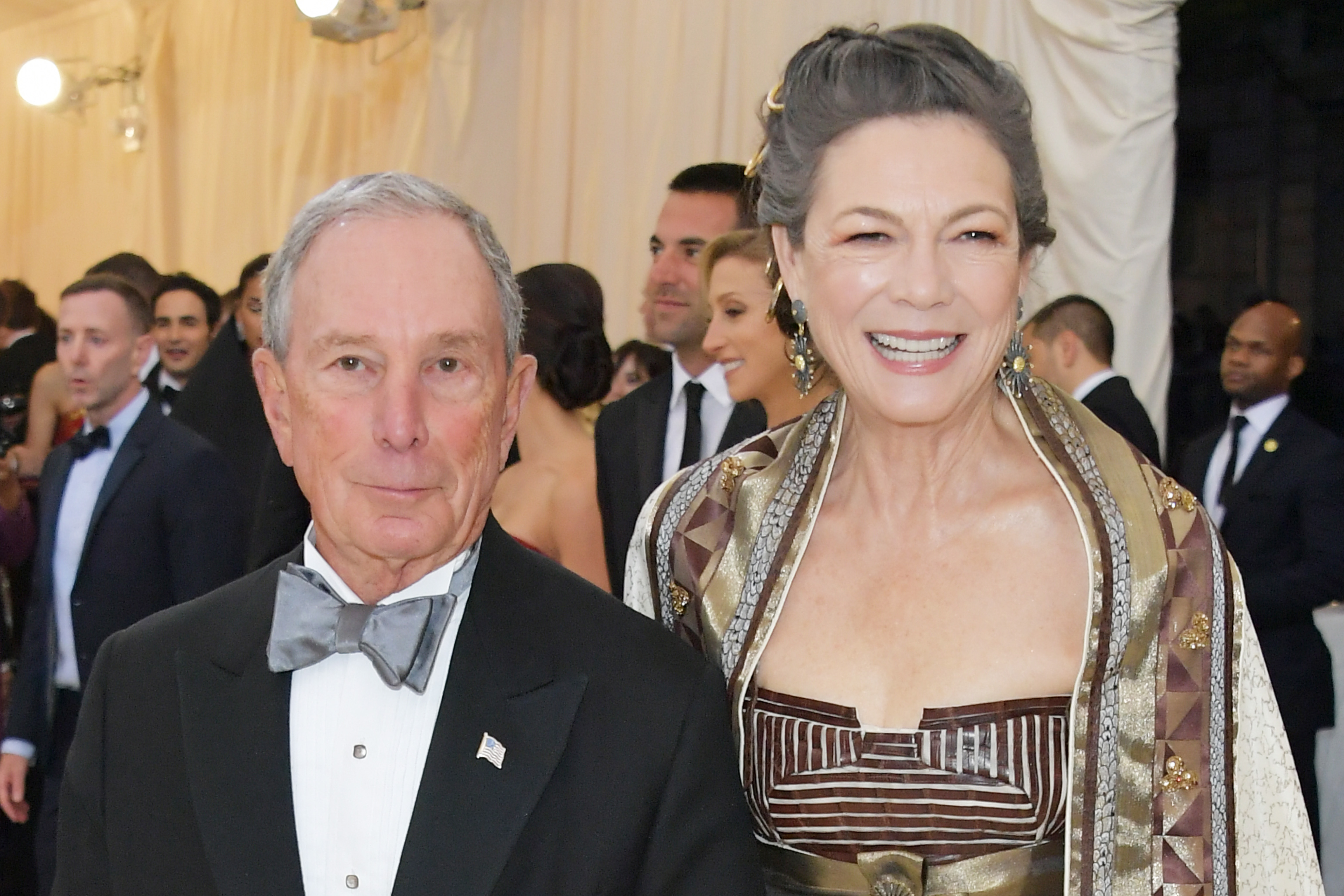Michael Bloomberg and Diana Taylor attend the Heavenly Bodies: Fashion & The Catholic Imagination Costume Institute Gala at The Metropolitan Museum of Art on May 7, 2018 in New York City. (Neilson Barnard/Getty Images)