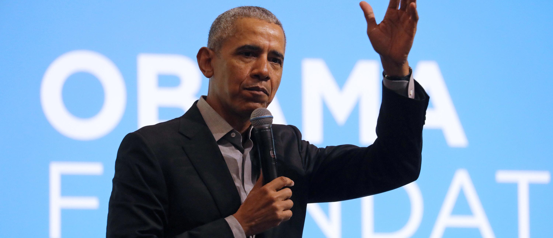 Former U.S. President Barack Obama speaks during an Obama Foundation event in Kuala Lumpur, Malaysia, Dec. 13, 2019. REUTERS/Lim Huey Teng