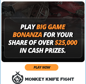 Big Bonaza, Rapid Fire, Scoring Champion, and More. Tons of options and ways to win! Instant payout! (Photo via MonkeyKnifeFight)