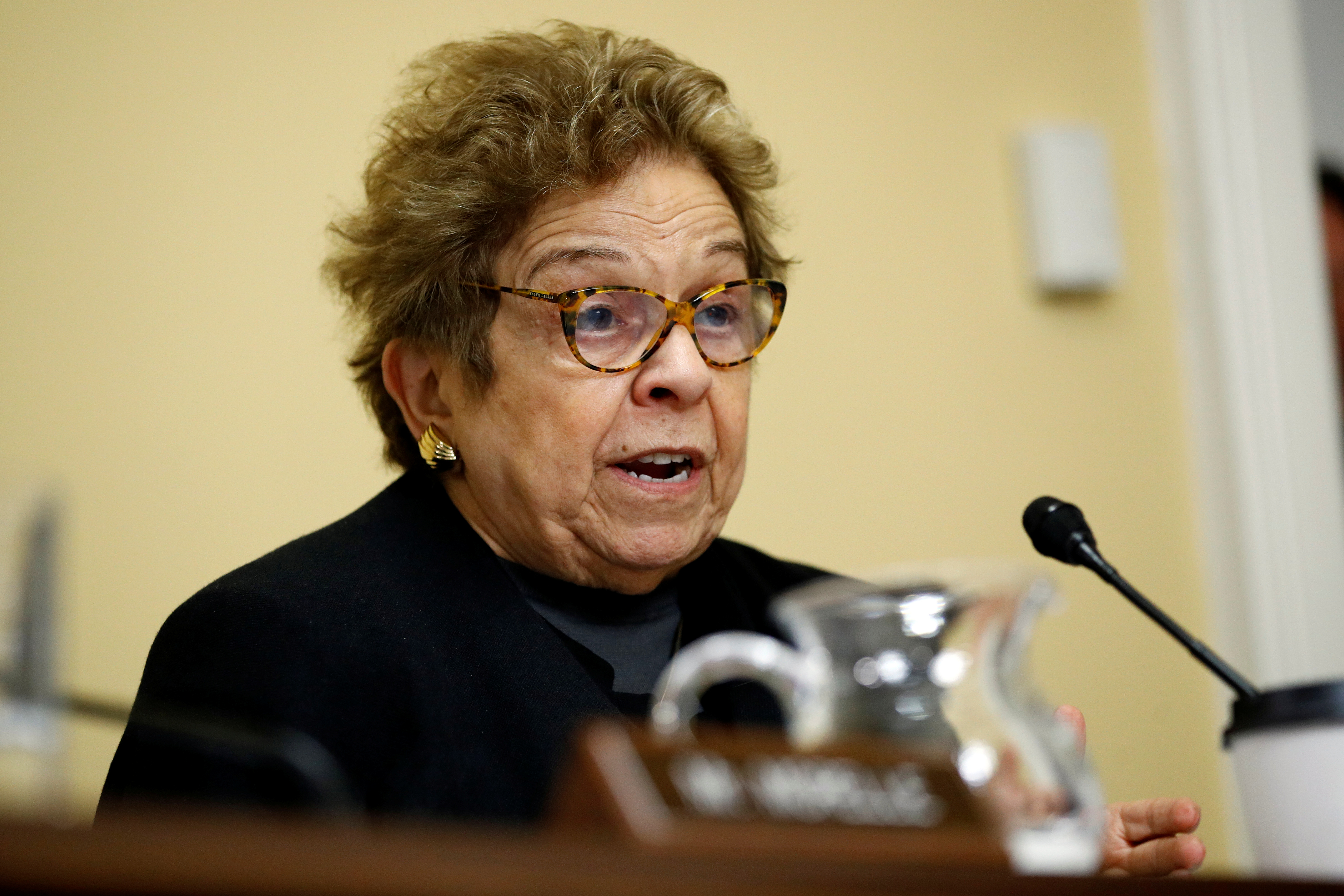 Rep. Donna Shalala, D-Fla., speaks during a House Rules Committee hearing on the impeachment against President Donald Trump, in Washington