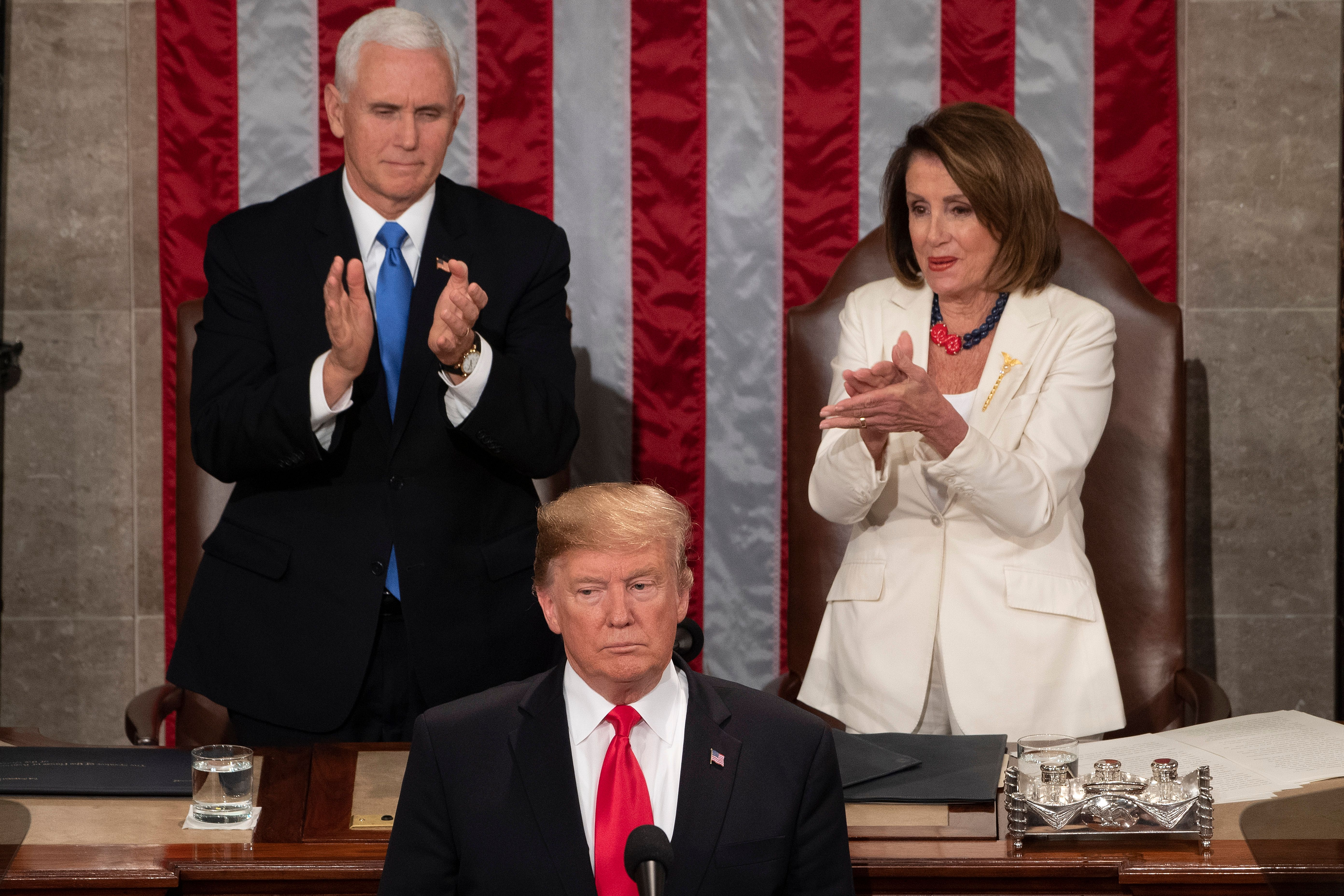 US President Donald Trump delivers the State of the Union address at the US Capitol in Washington, DC, on February 5, 2019. (JIM WATSON/AFP via Getty Images)